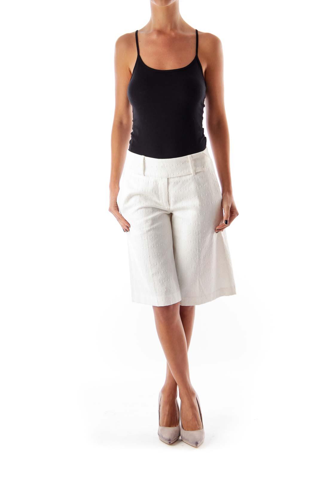 White Texture Long Short