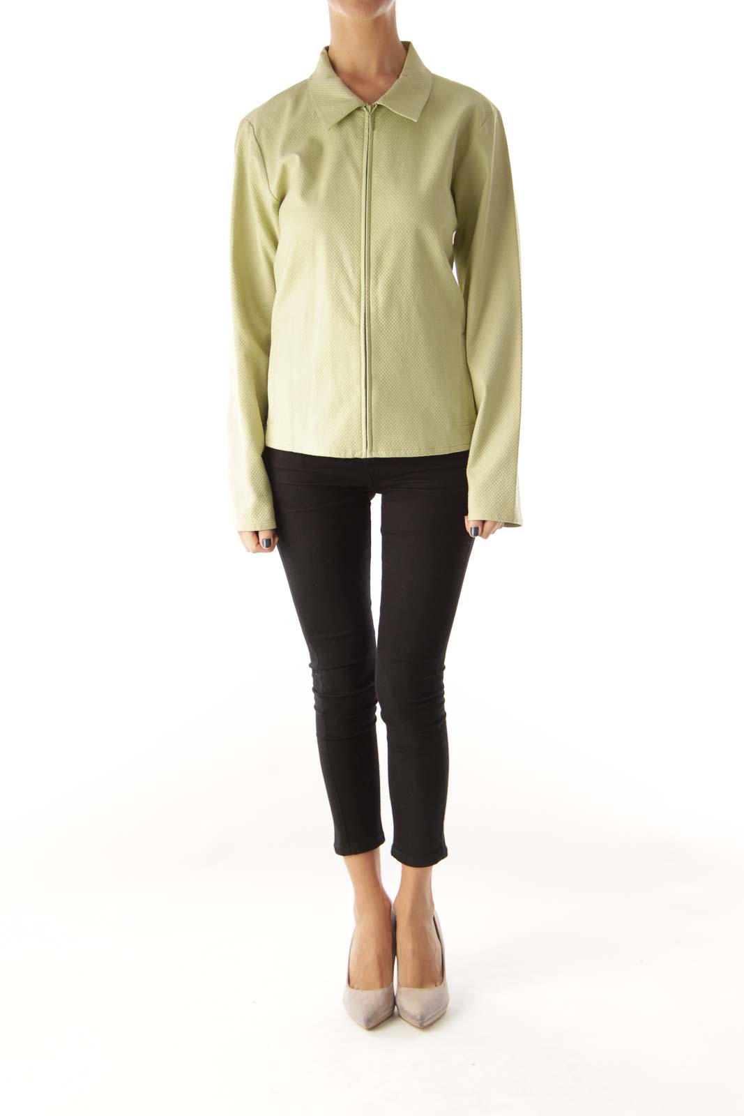 Green Front Ziper JAcket