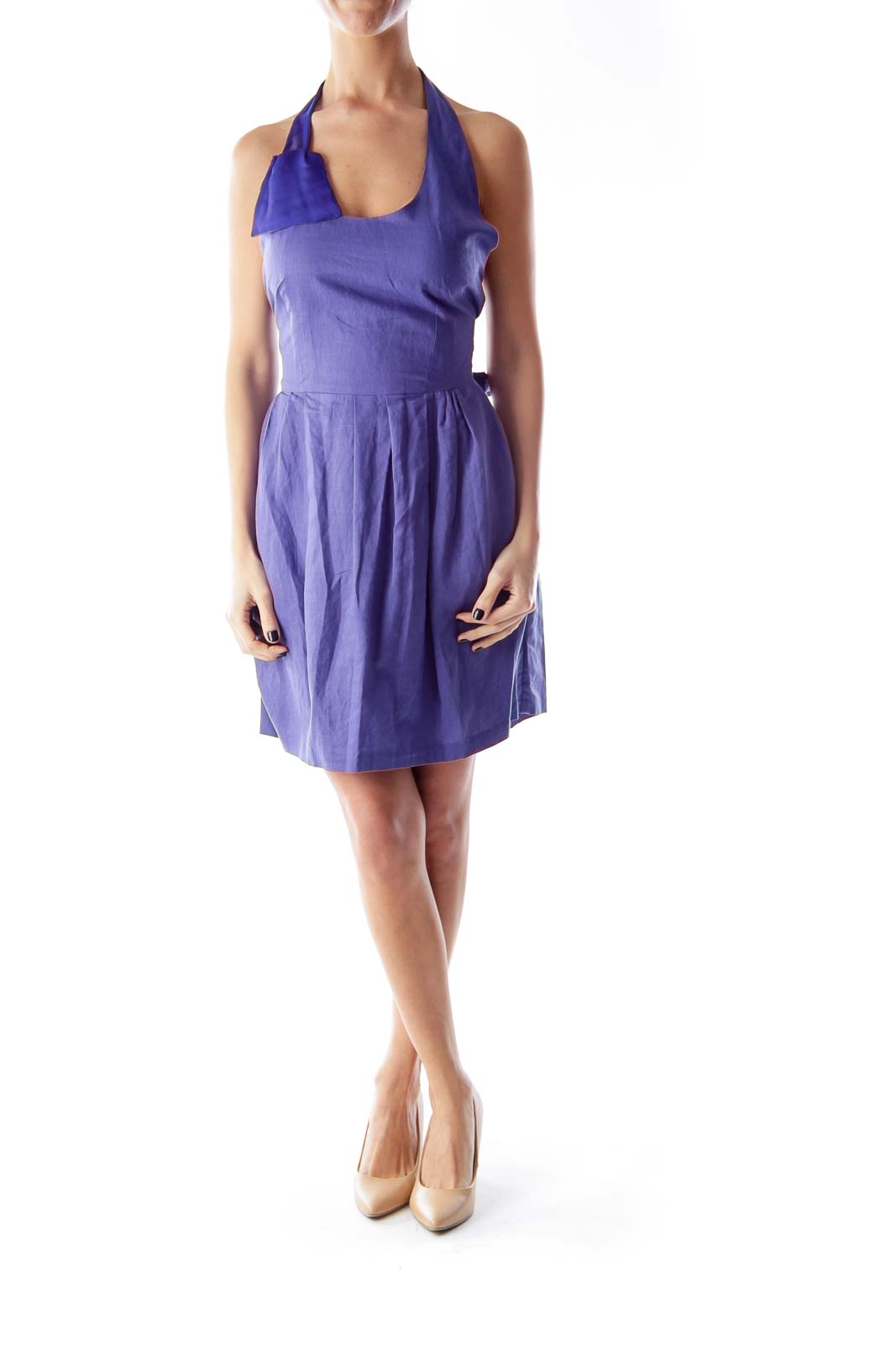 Dark Purple Halter Dress