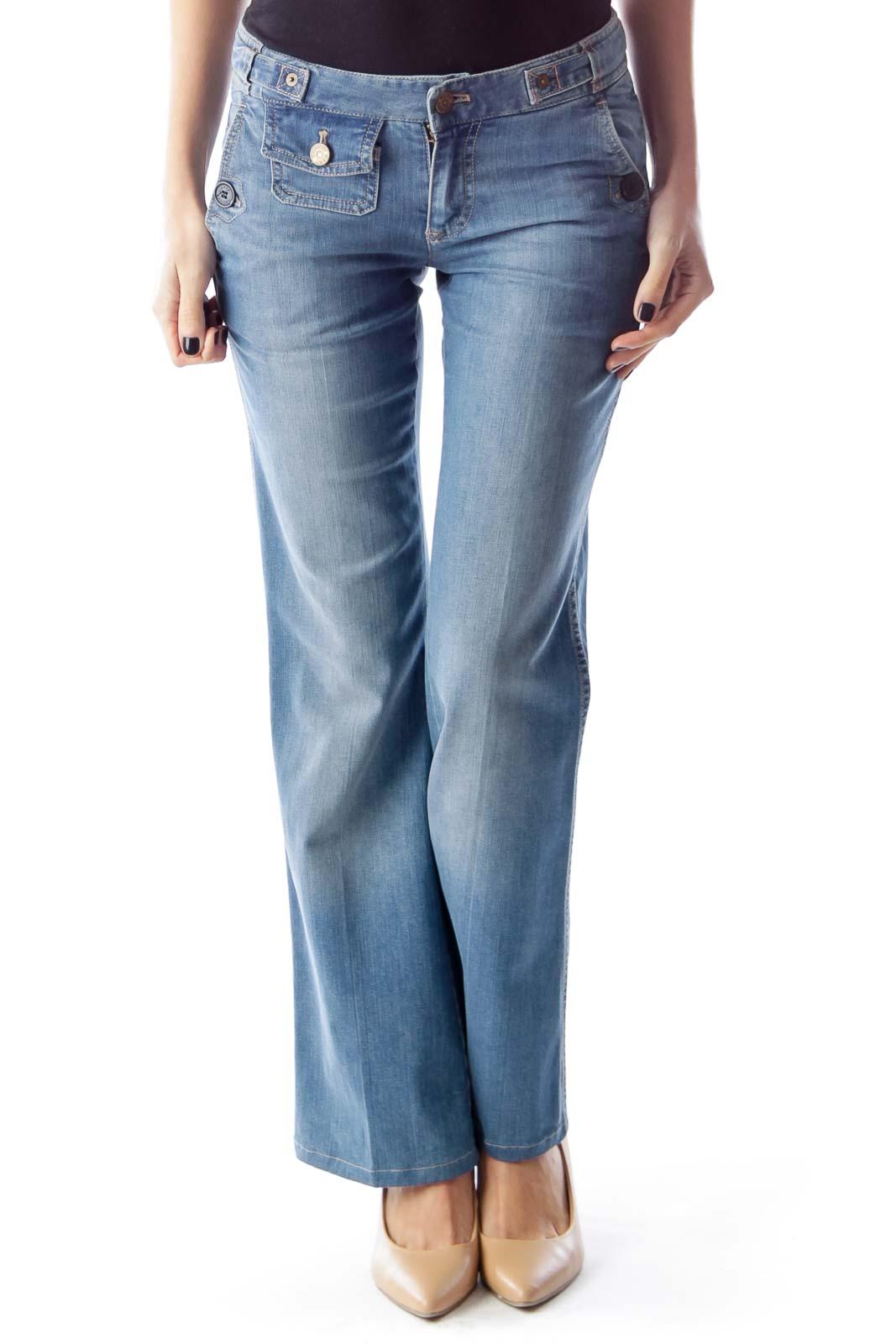 Light Blue Flare Jeans