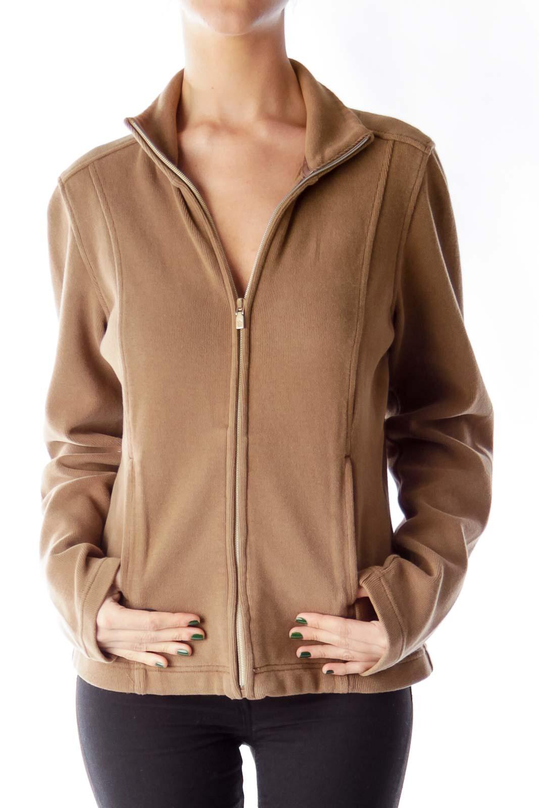 Brown Front Pocket Jacket