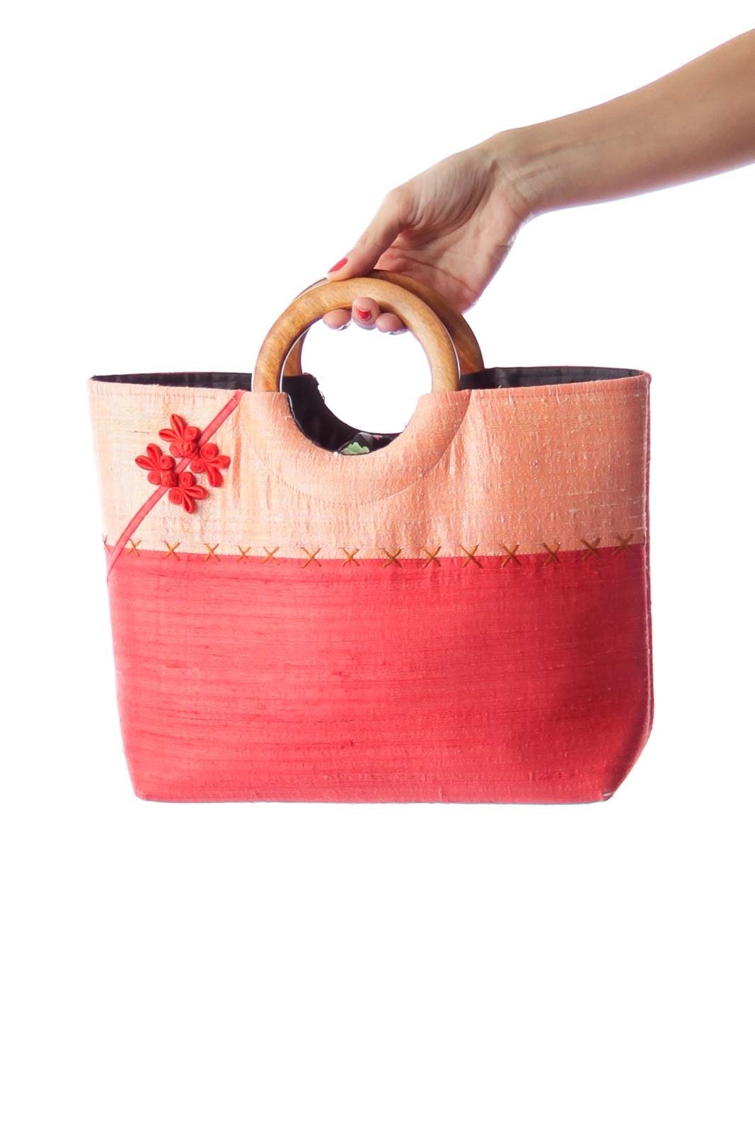 Red & Orange Embroidery Bag
