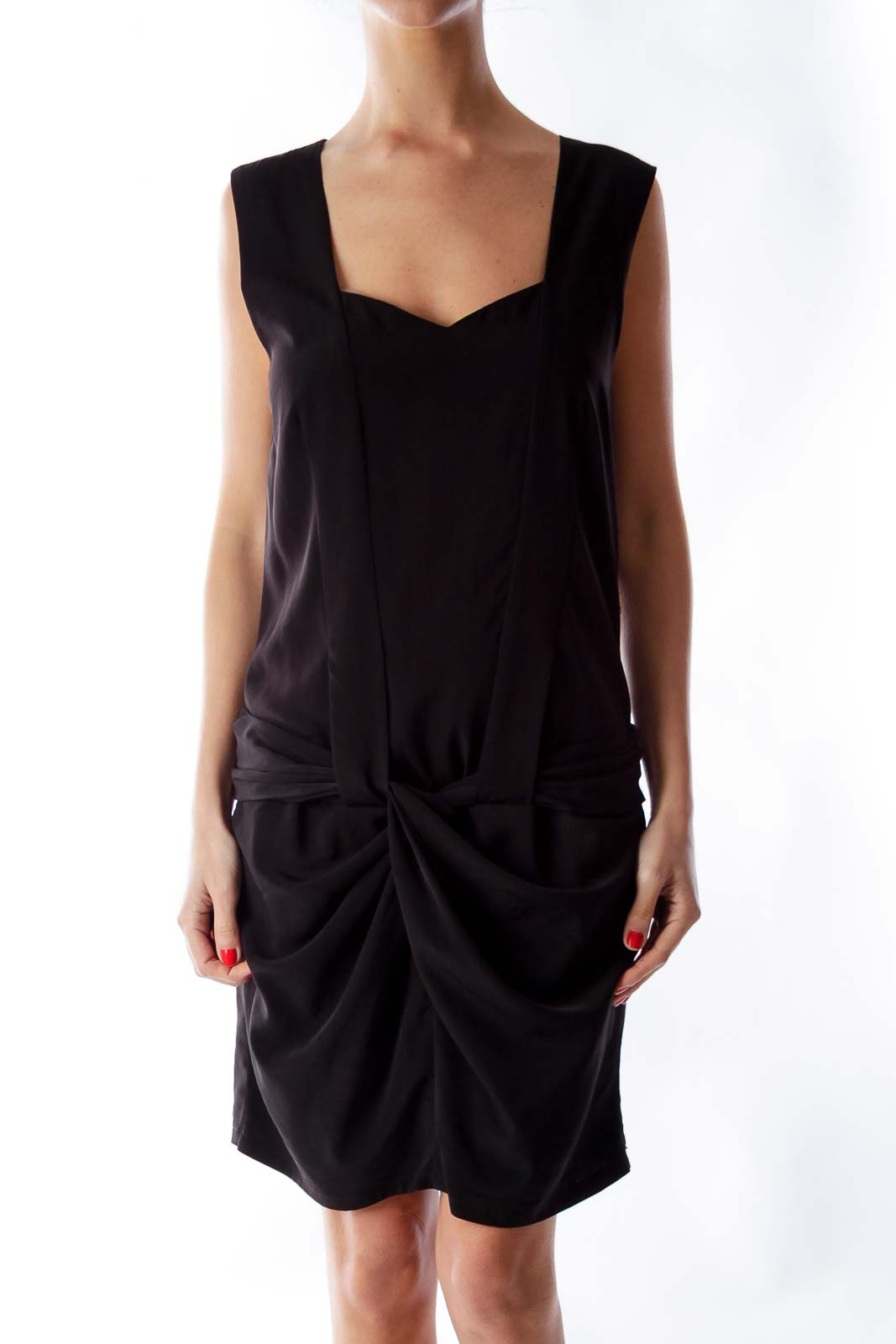 Black Knot Mini Dress