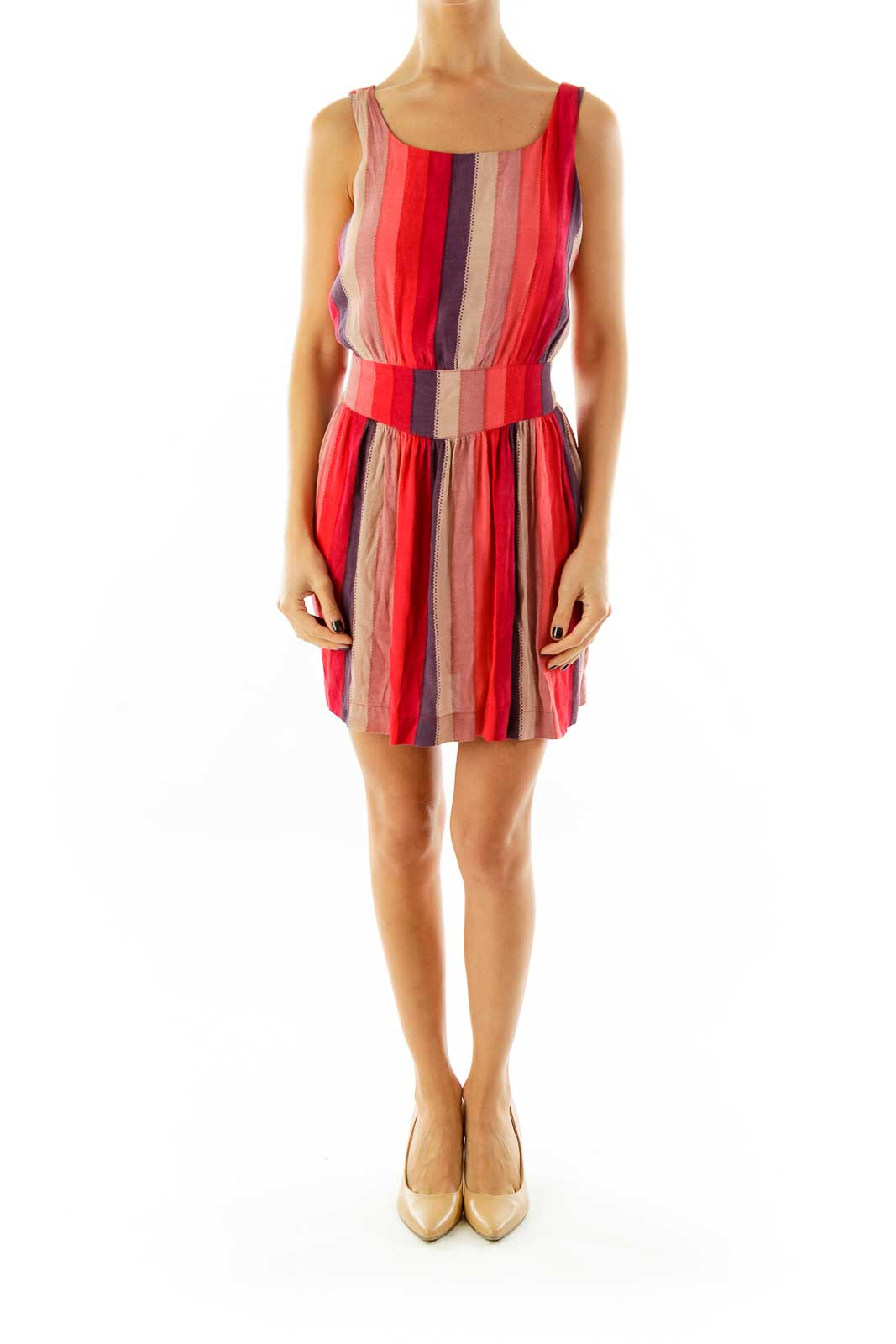 Red Striped Day Dress