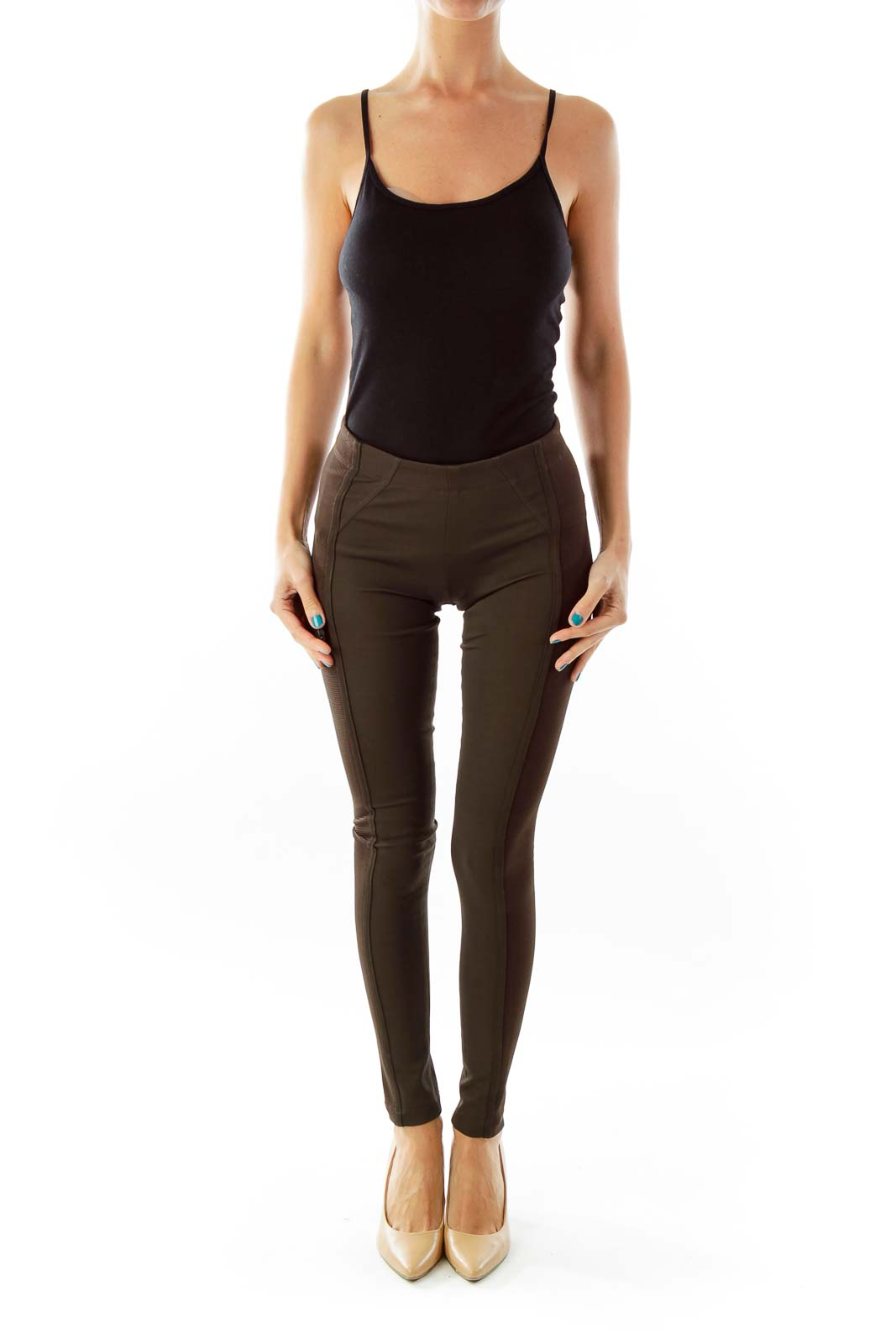 Brown Skinny Legging