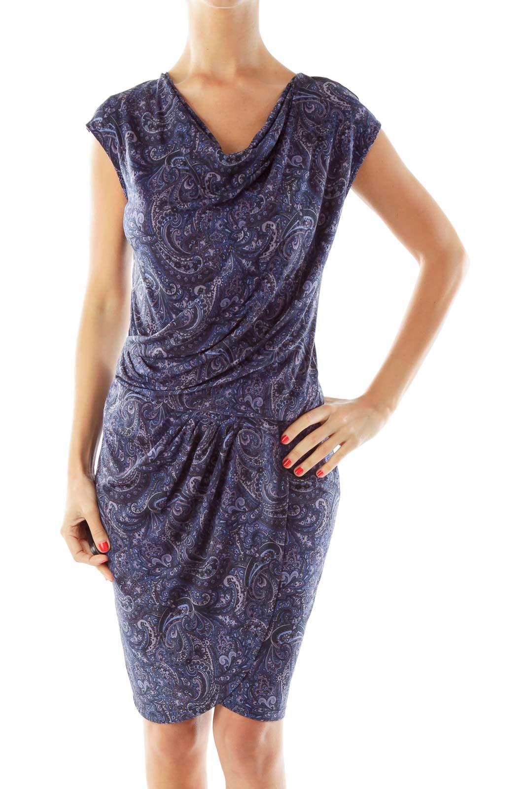 Purple Paisley Day Dress