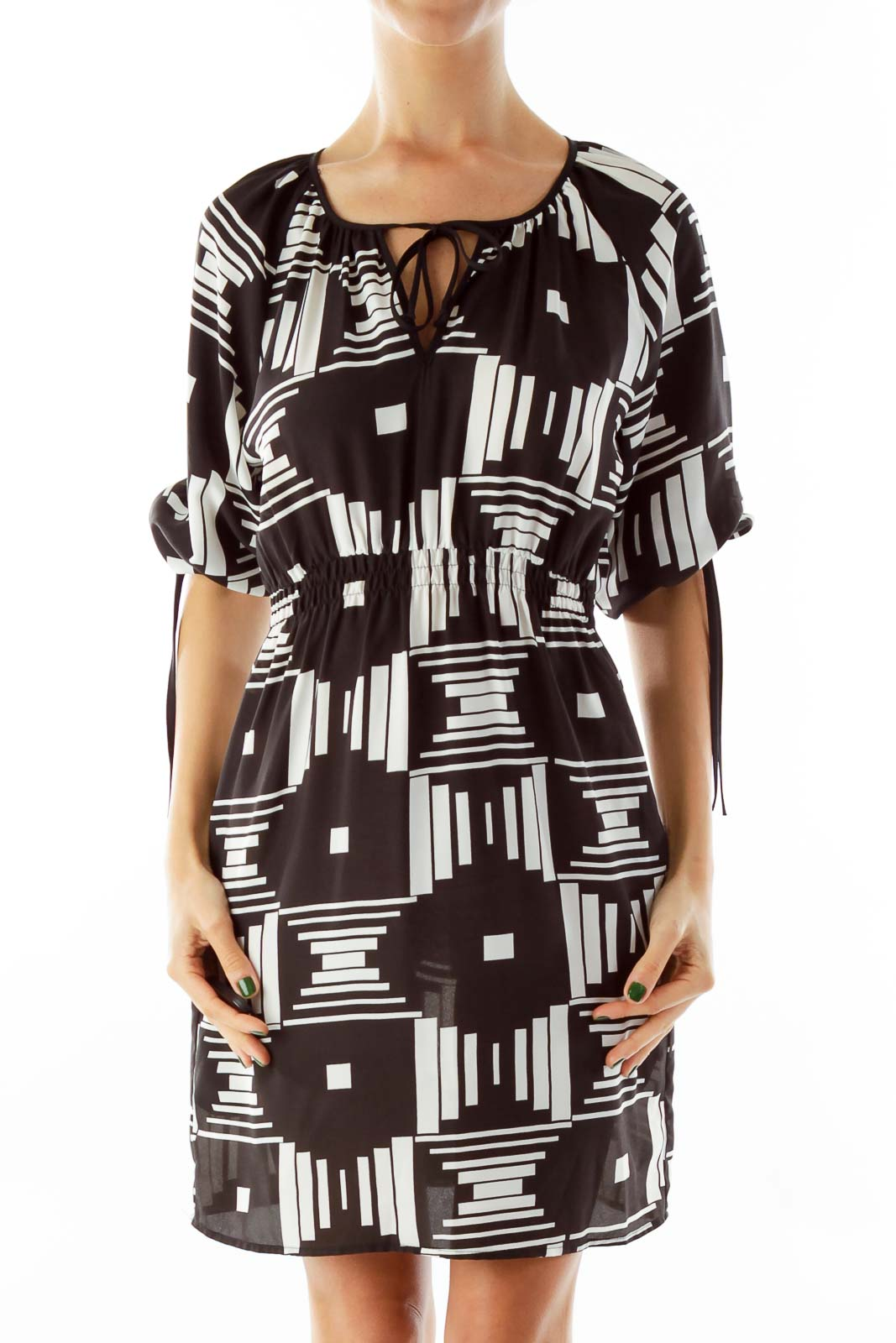 Black & White Aztec Print Dress