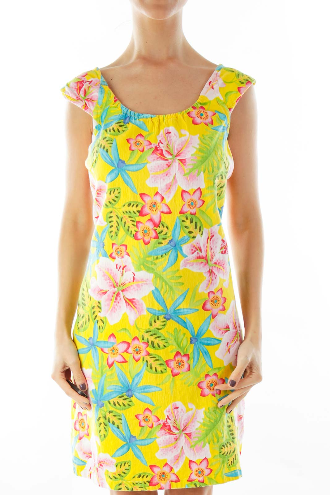 Yellow Floral Day Dress