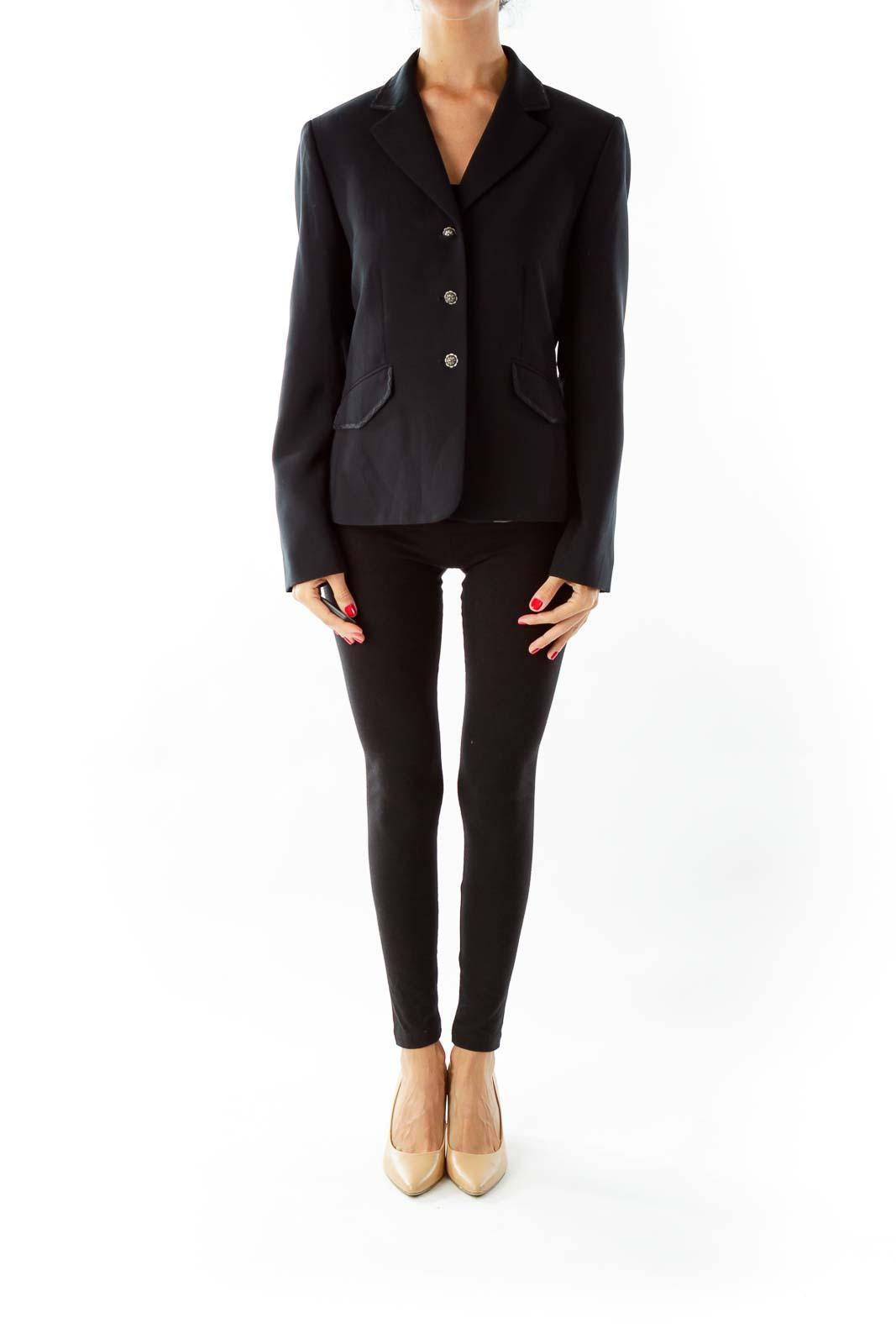 Black Petite Pocketed Blazer