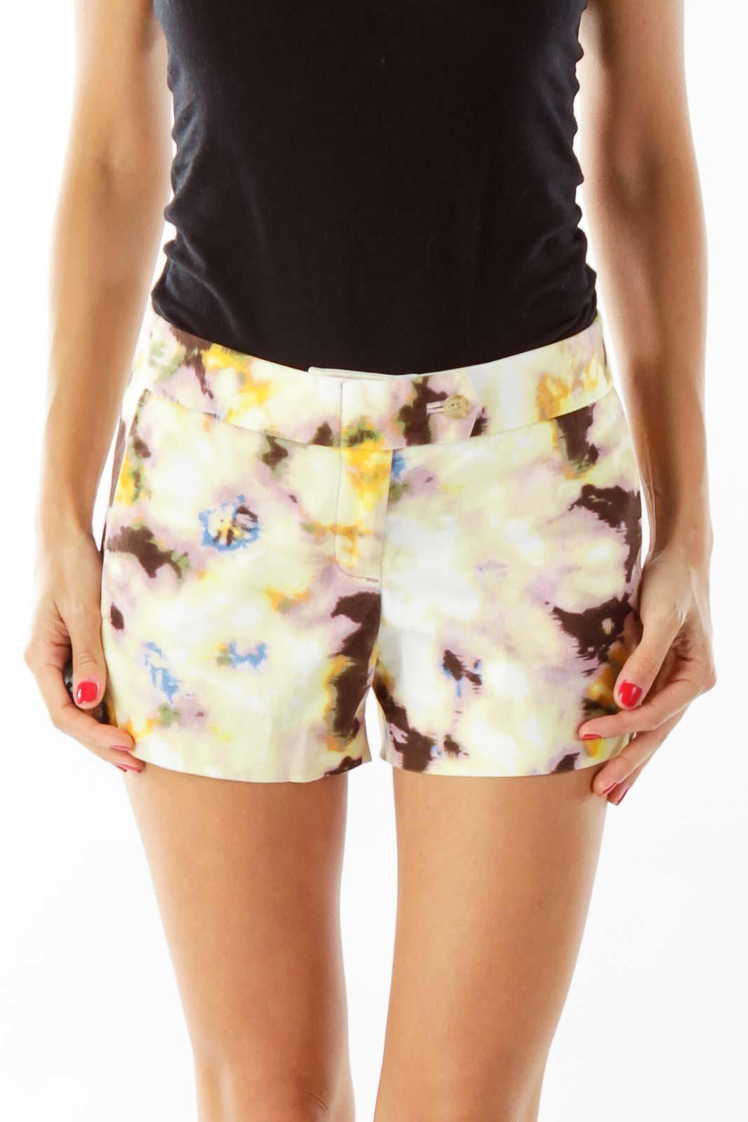 Yellow Tie-Die Shorts