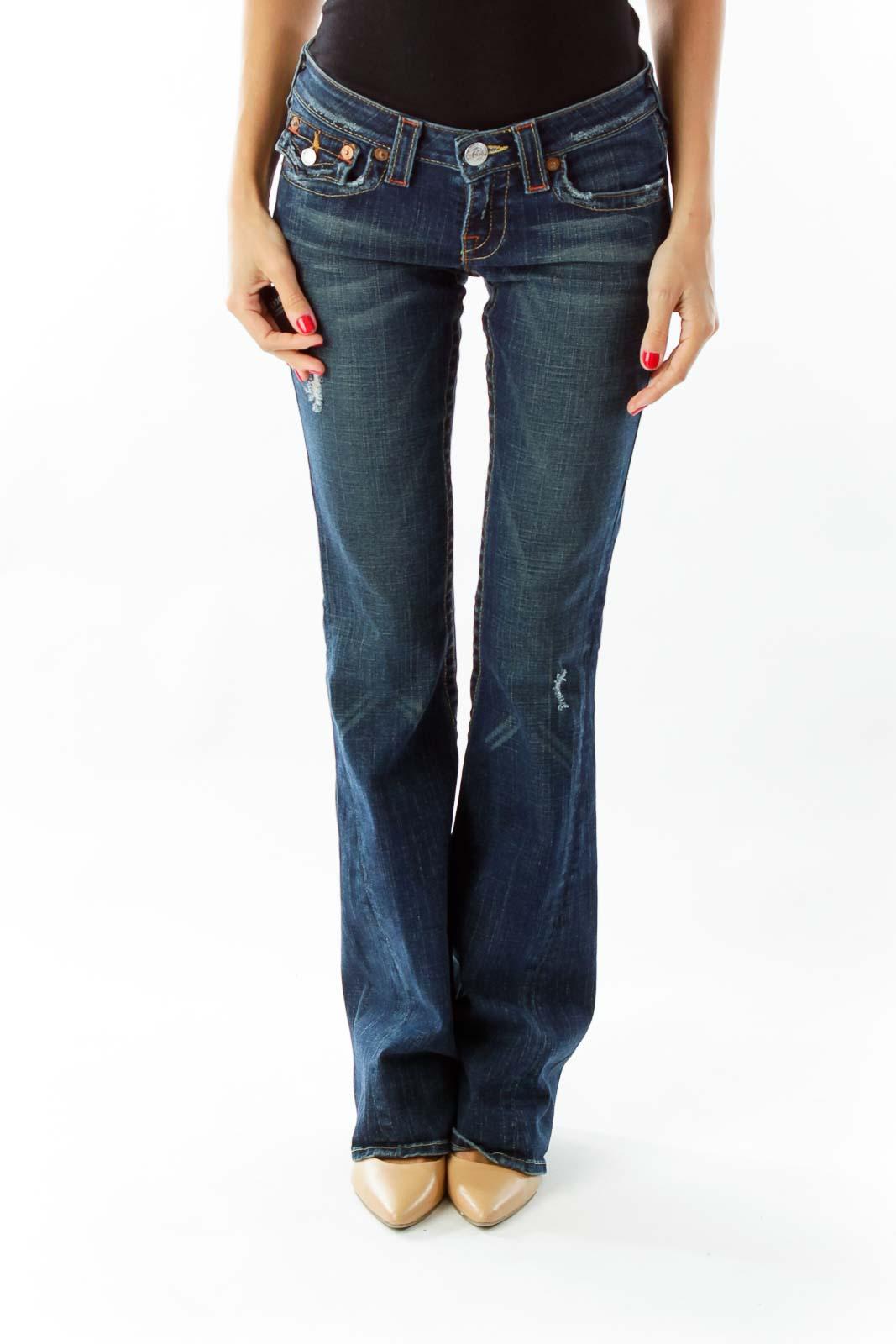 Blue Flare Bottom Jeans