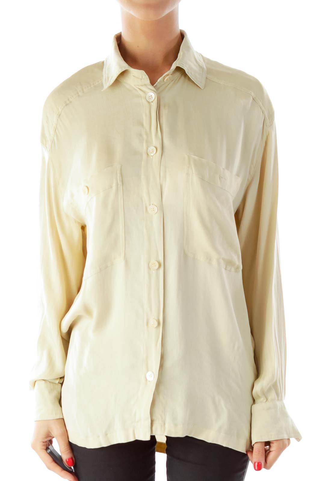 Brown Button Down Shirt