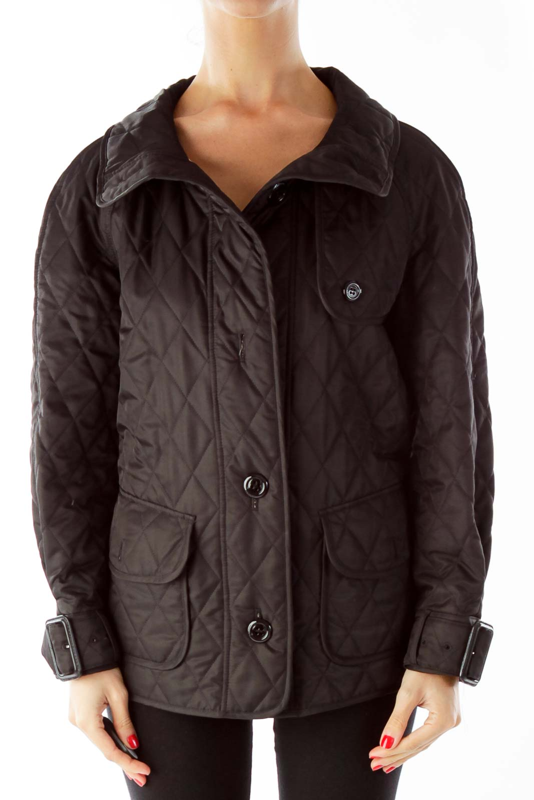 Black Burberry Cool Weather Jacket