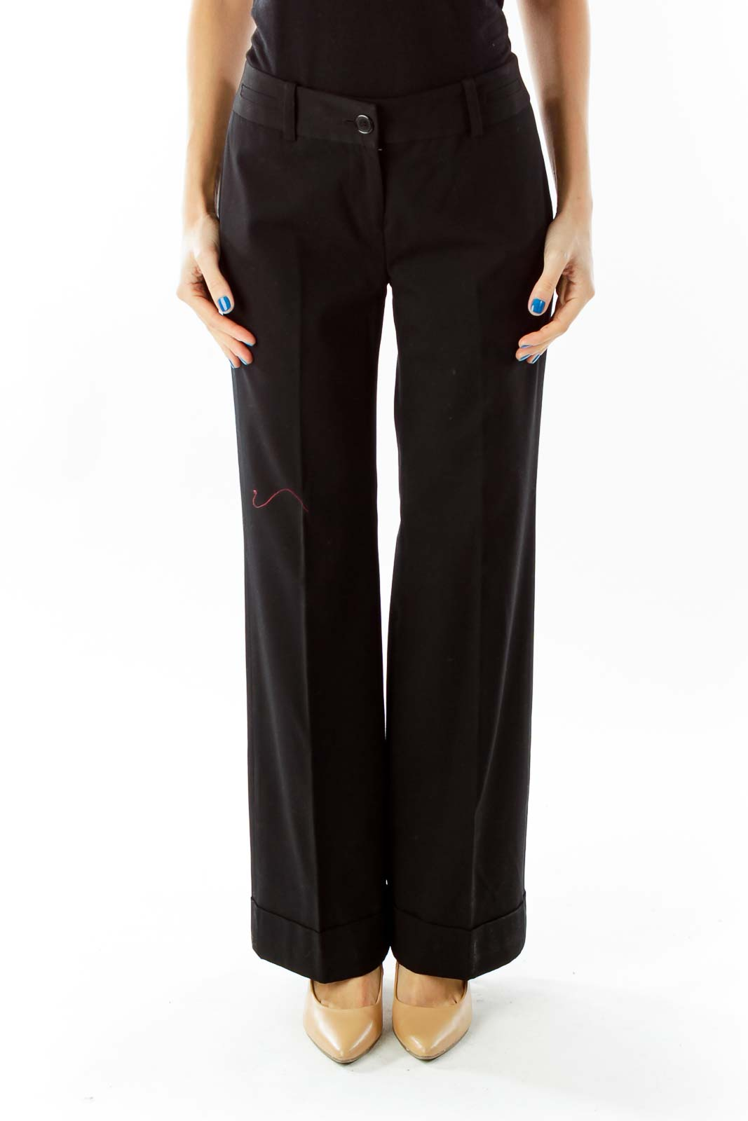Black High-Waisted Wide-Leg Pants