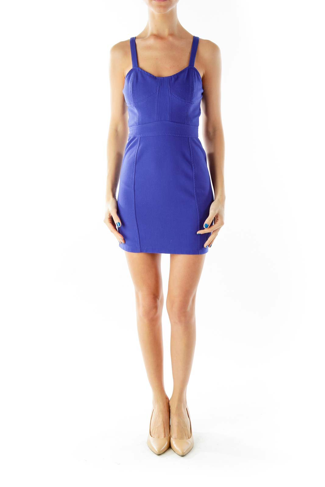 Cobalt Fitted Cocktail Dress