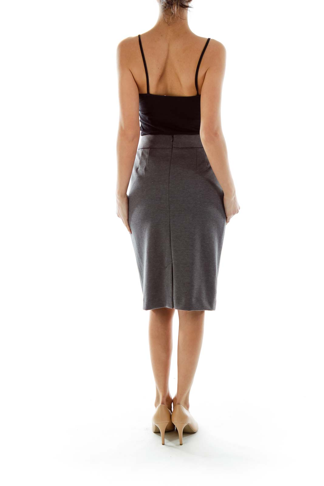 3450e19c2 Shop Gray Mottled Pencil Skirt clothing and handbags at SilkRoll ...