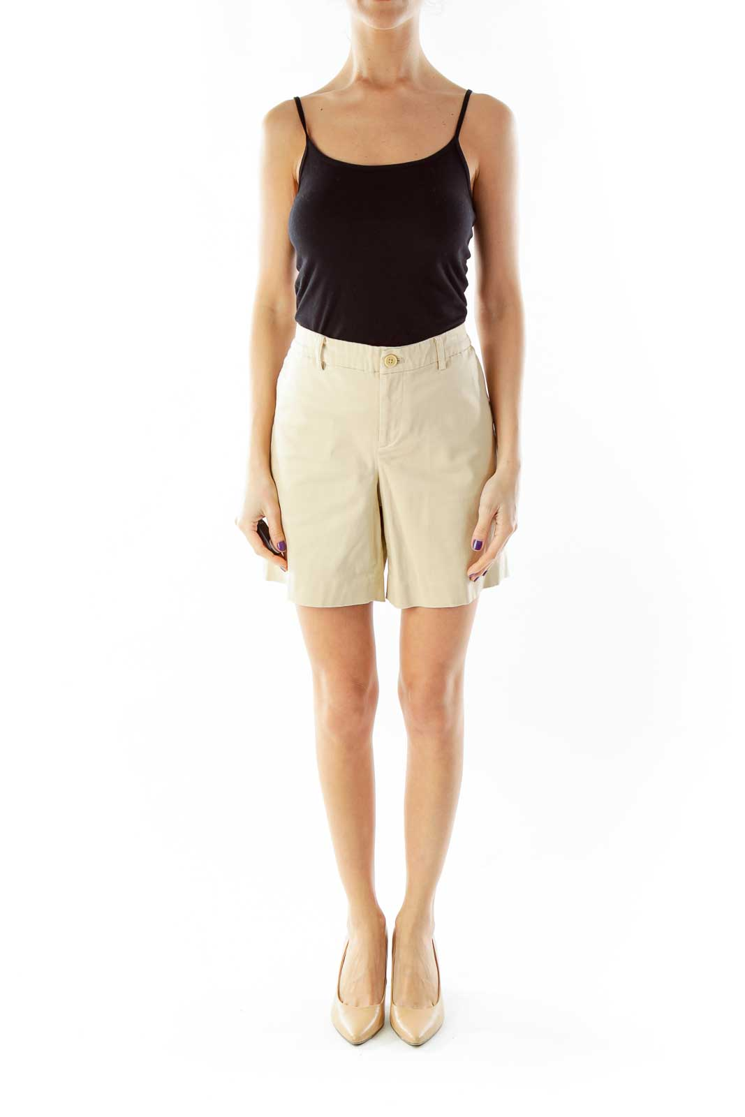 Brown Cropped Shorts