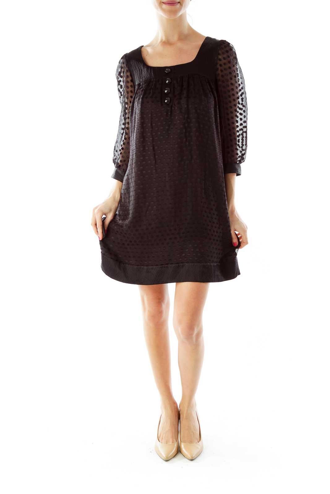 Black Polka-Dot Doll Dress