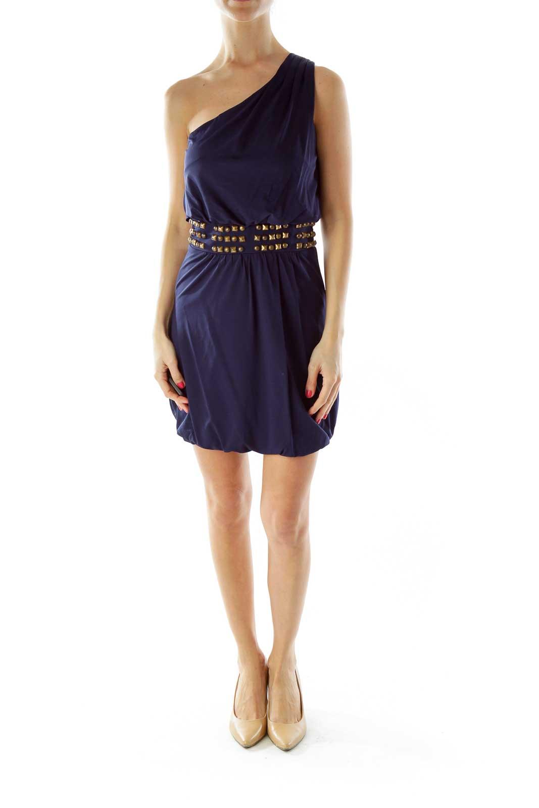 Blue Studded Cocktail Dress