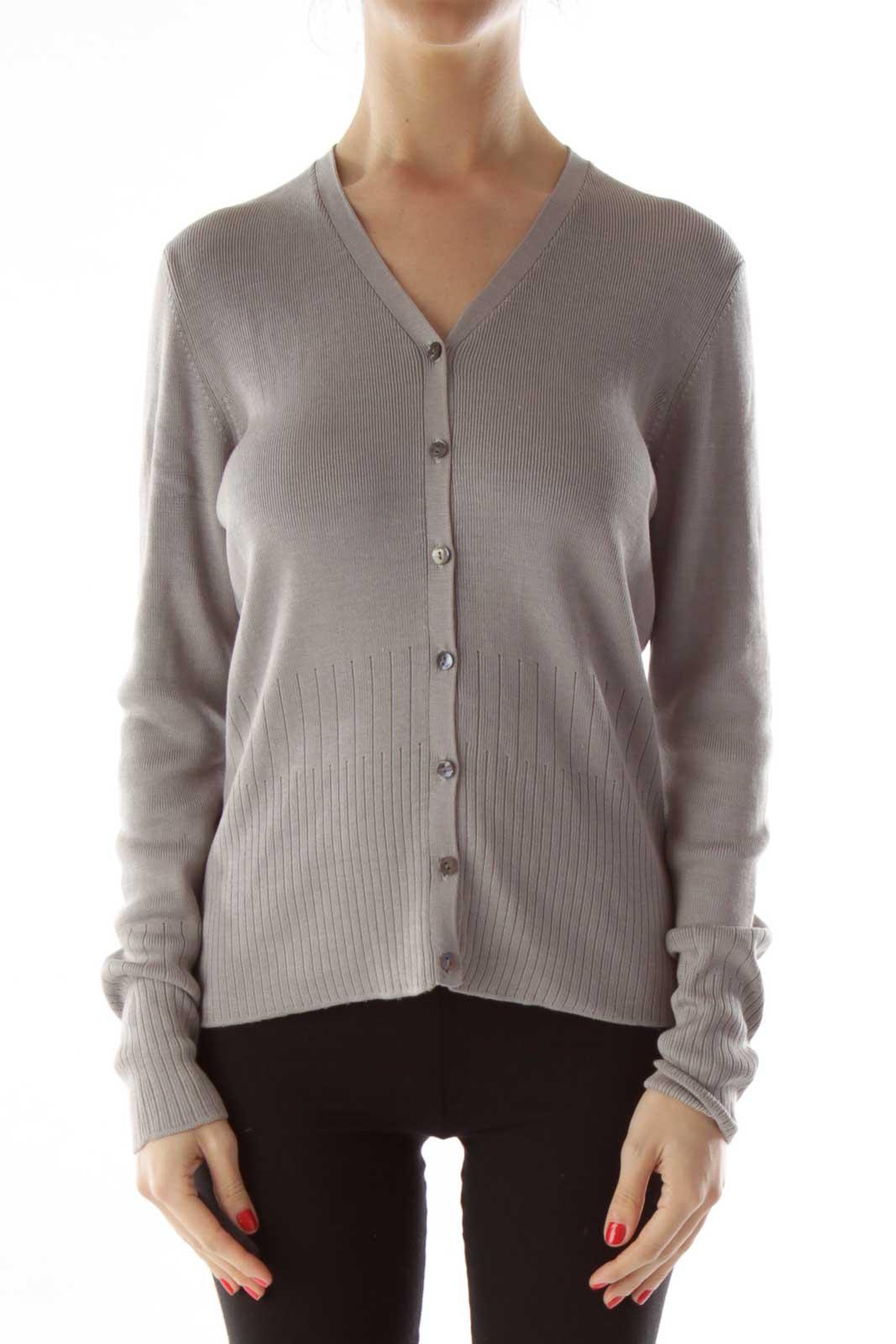 Gray Silk Cardigan