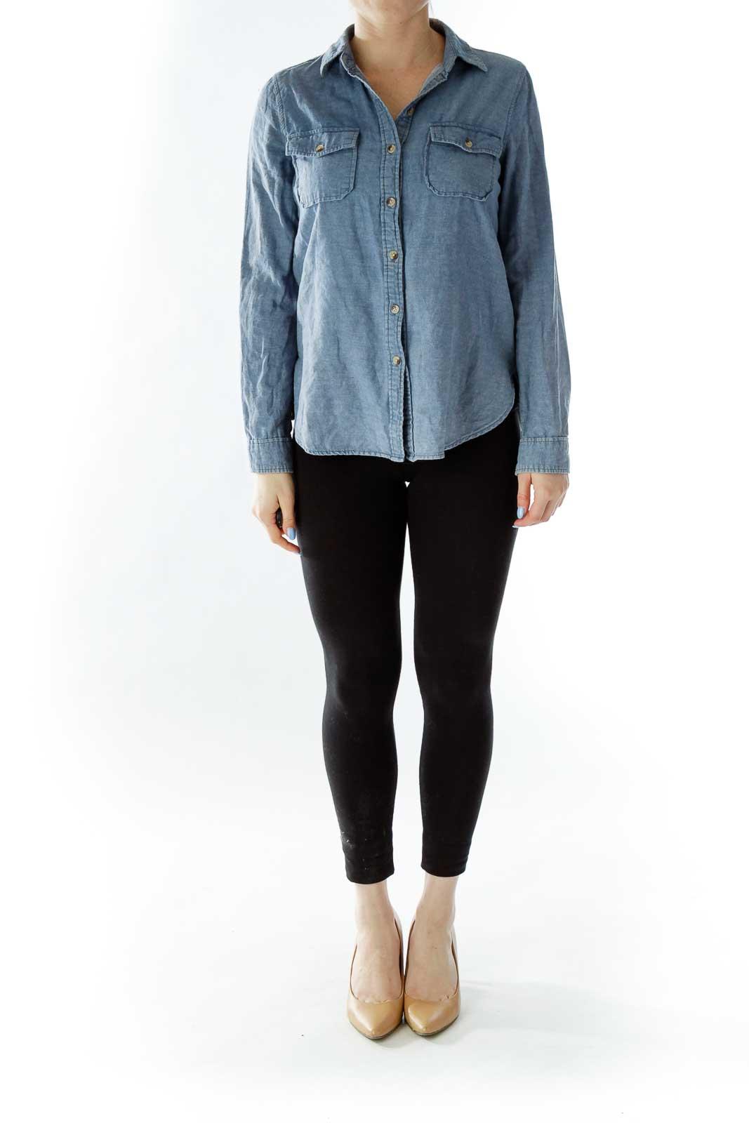 Blue Buttoned Denim Shirt