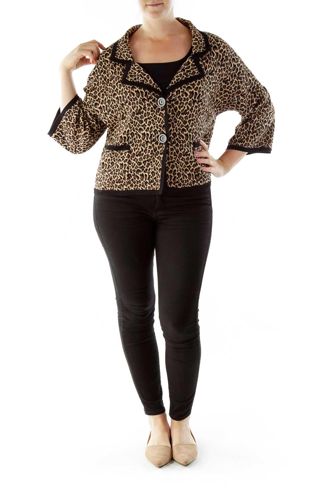 Brown Black Cheetah Blazer