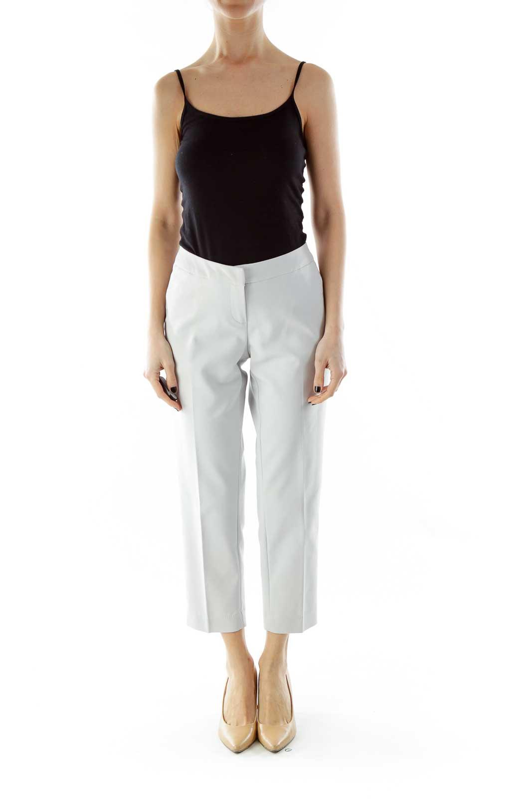 Light Gray Cropped Pants