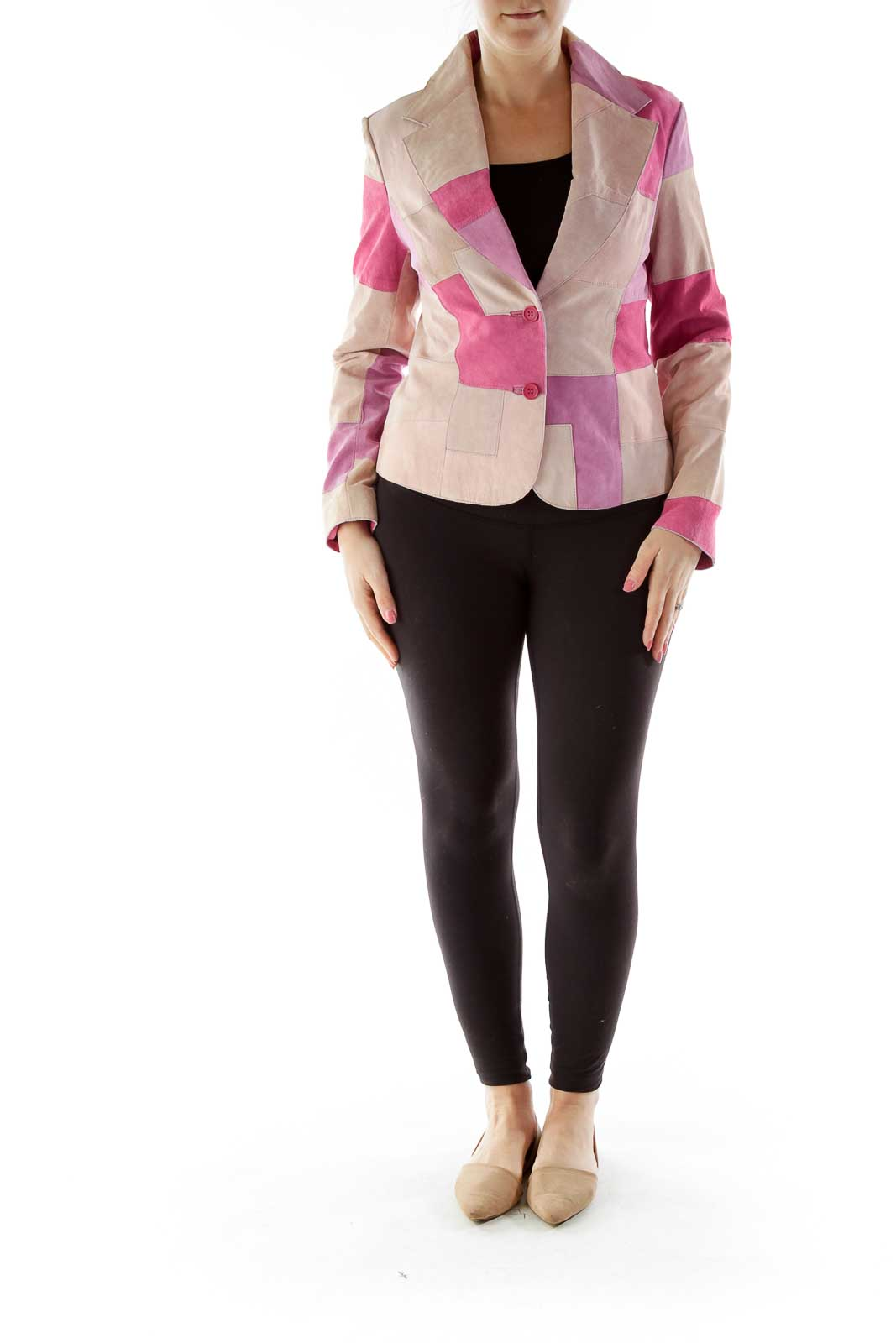 Pink Patch Suede Jacket