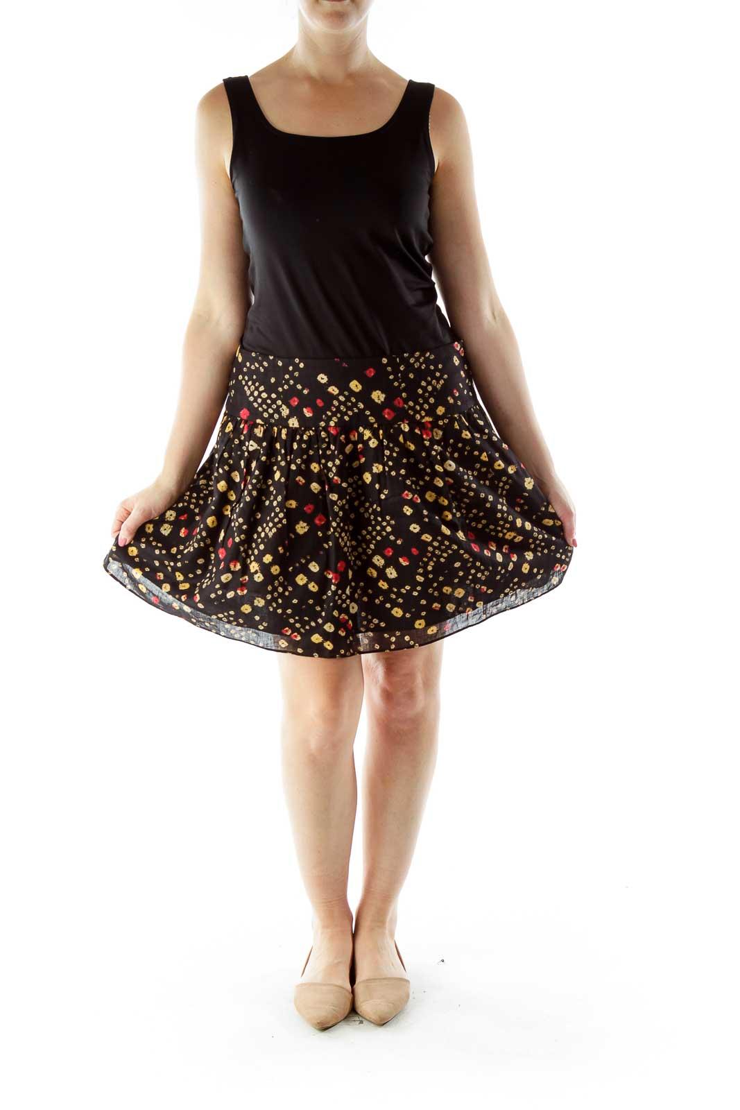 Black Multicolor Skirt