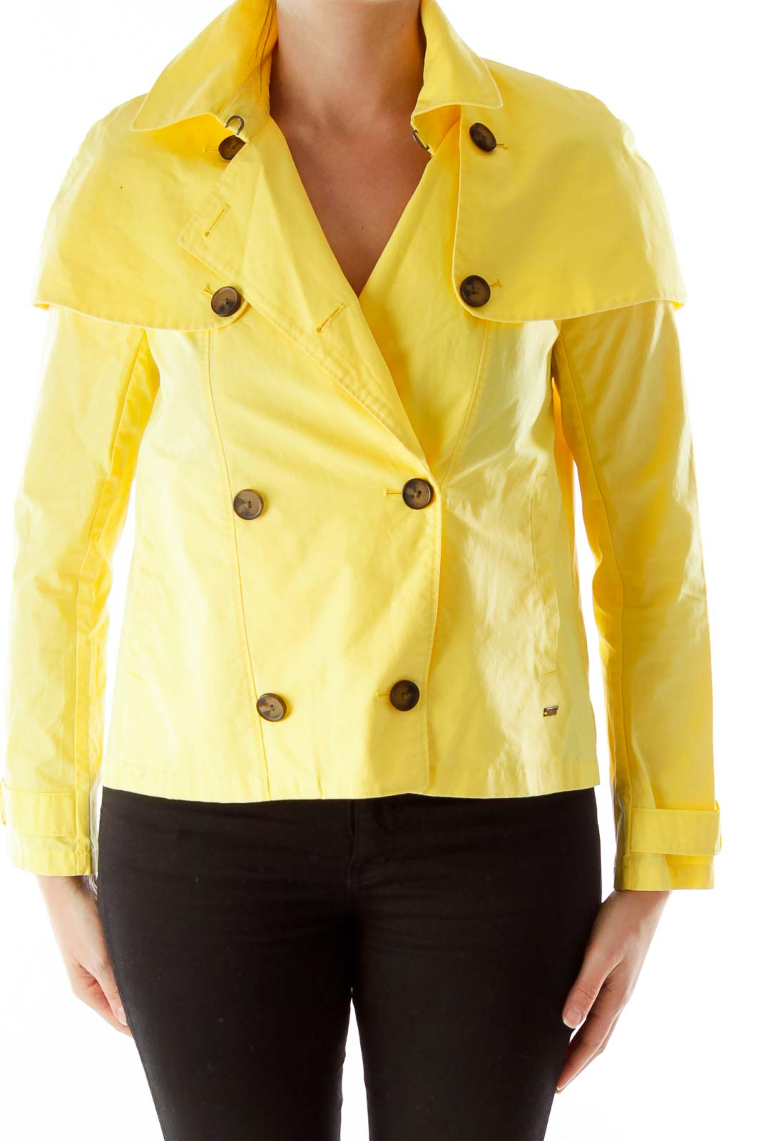 Yellow Short Trench Jacket