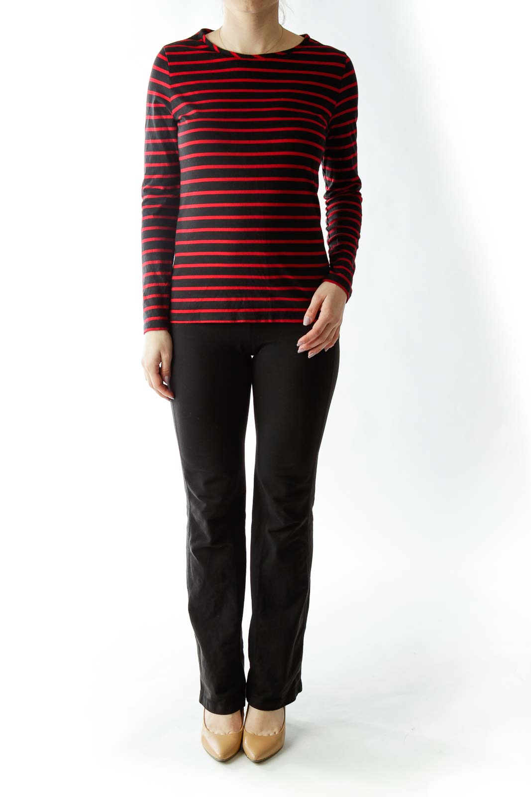 Black Red Striped T-Shirt