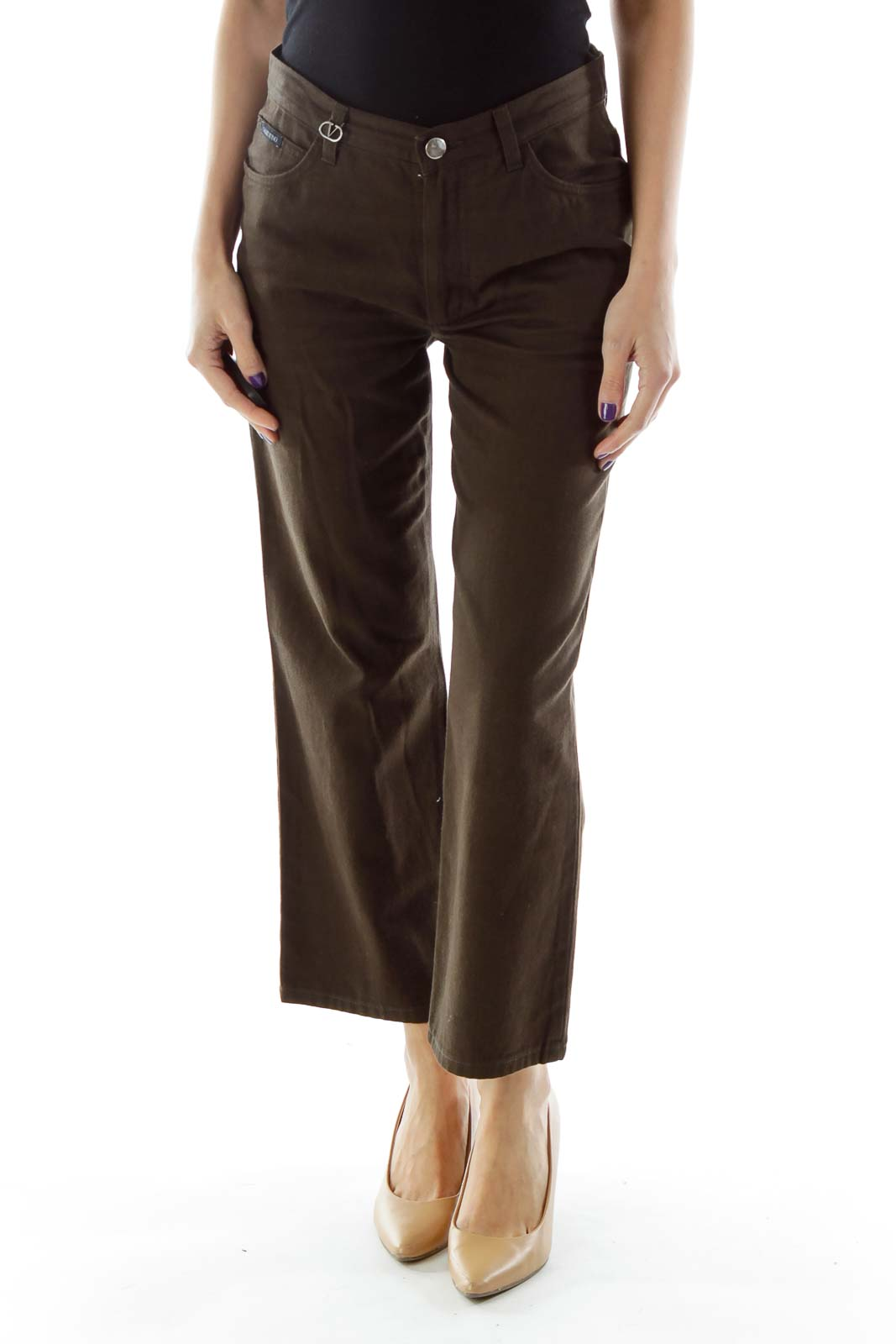 Brown Cropped Pants