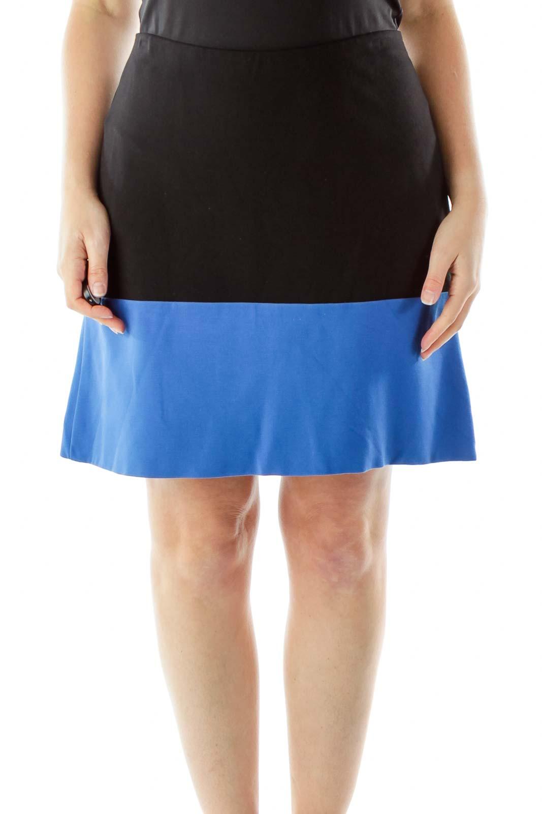 Blue Black Pencil Skirt