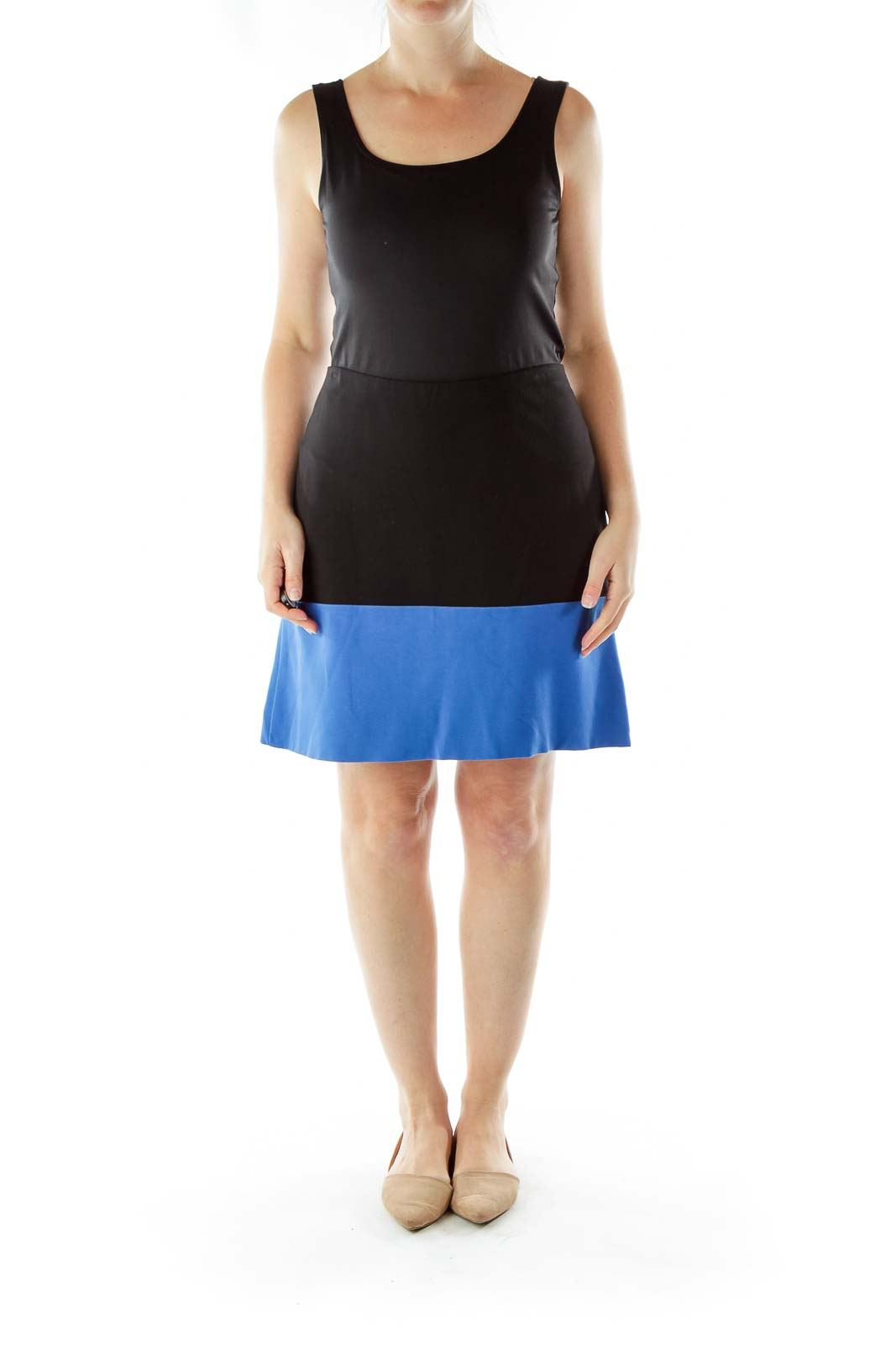 Blue Black Pencil Skirt