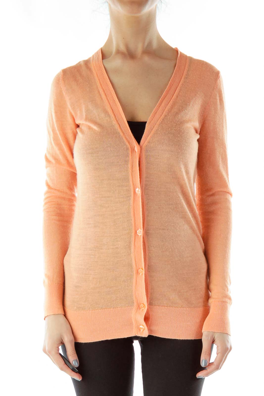 Orange Thin Cardigan