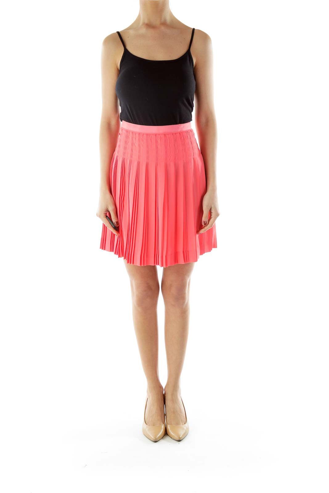Pink Flared Skirt