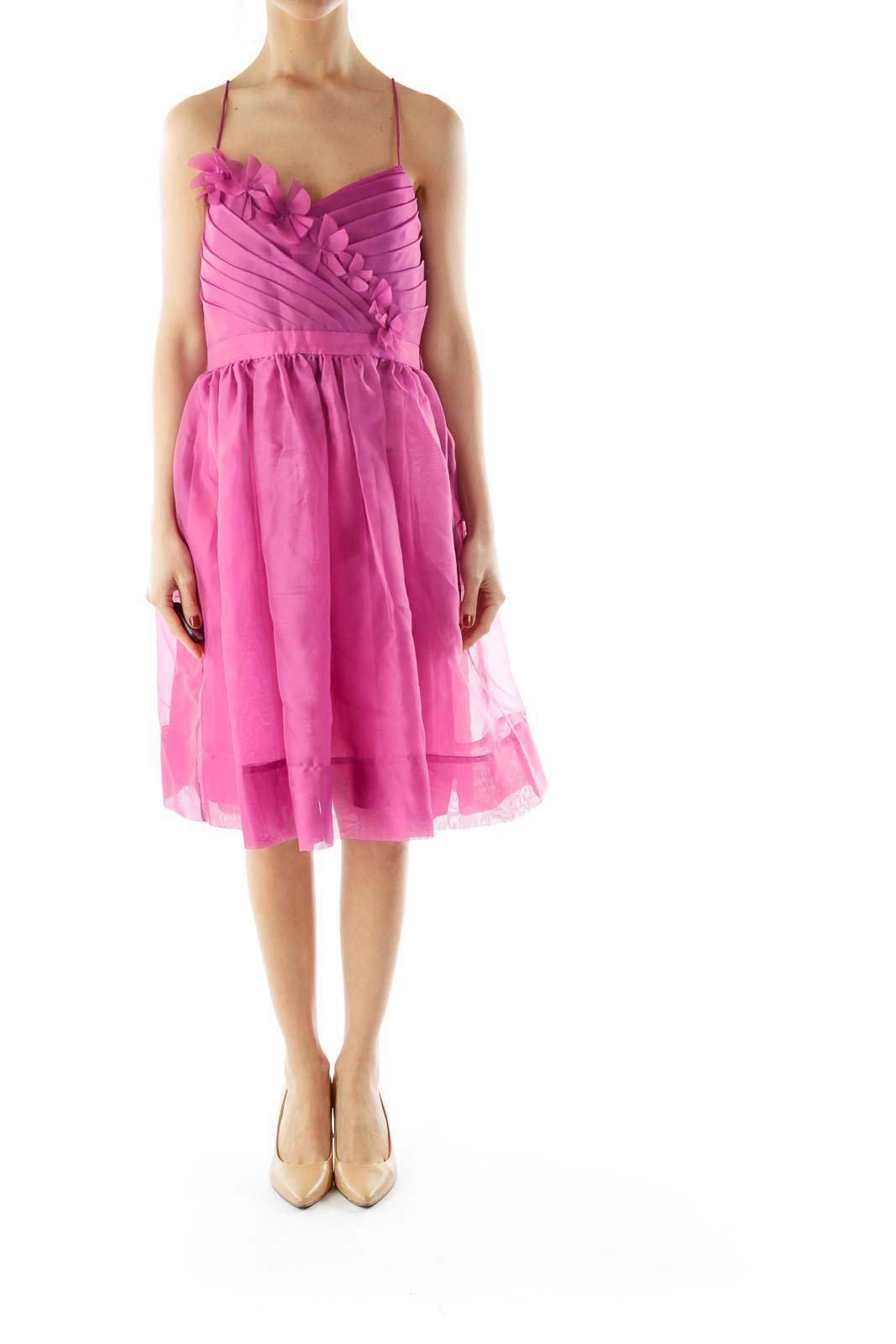 Purple A-Line Slip Cocktail Dress