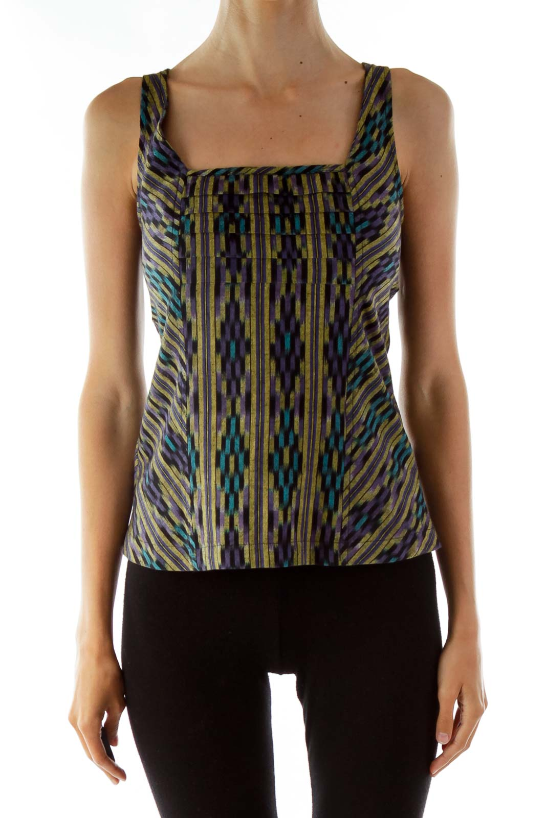Multi-Color Aztec Print Tank Top