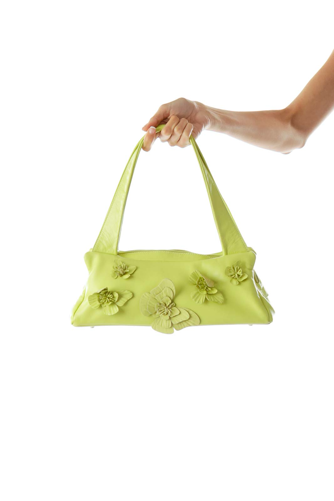 Green Butterfly Applique Small Shoulder Bag