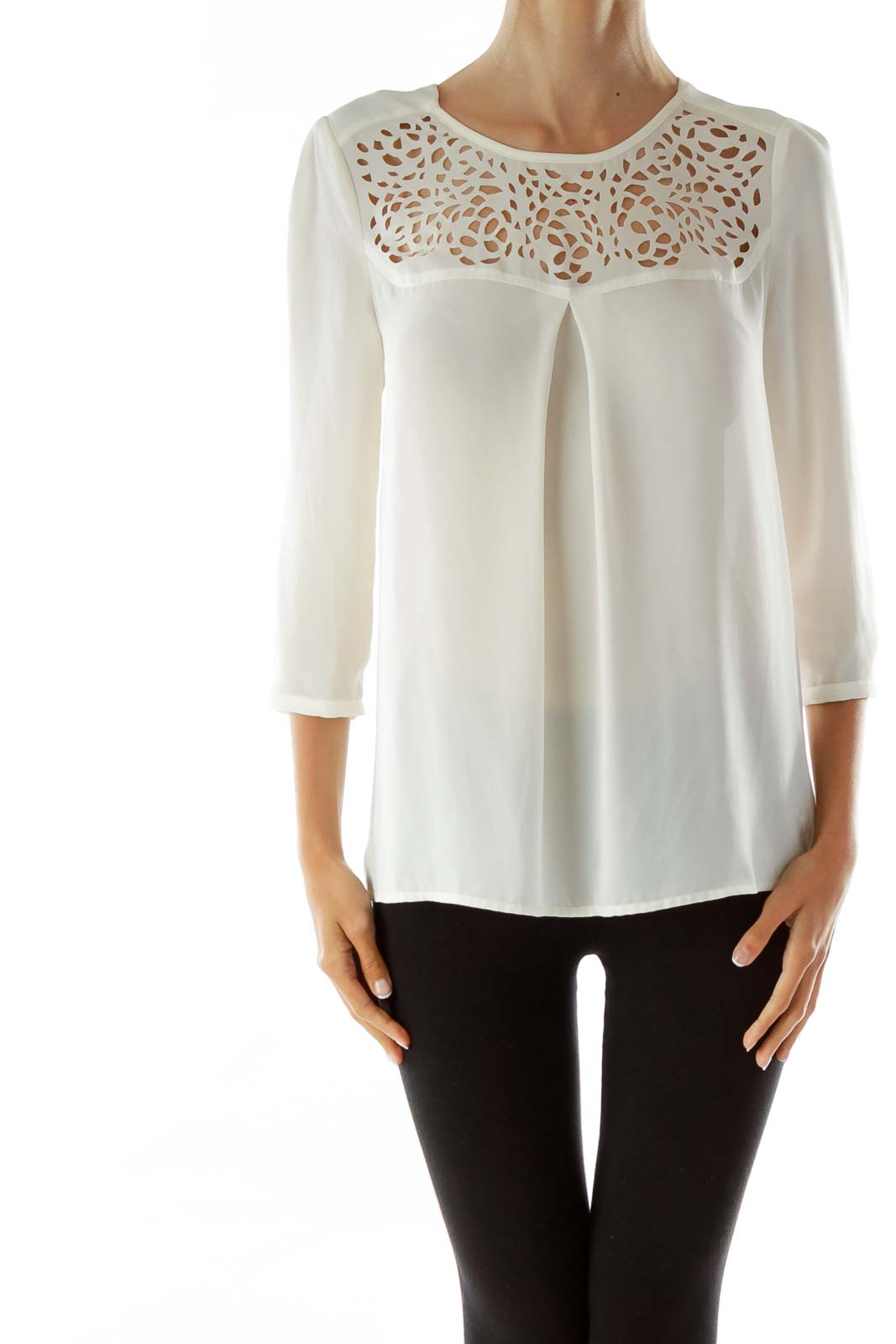 White Lacey Sheer Blouse