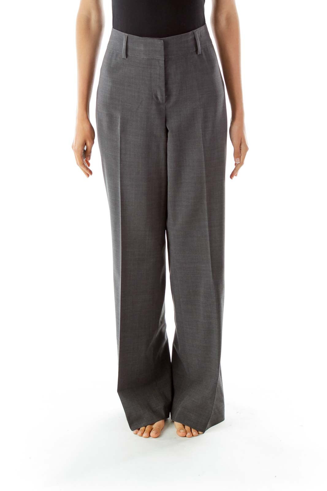 Gray Wide Leg Pants