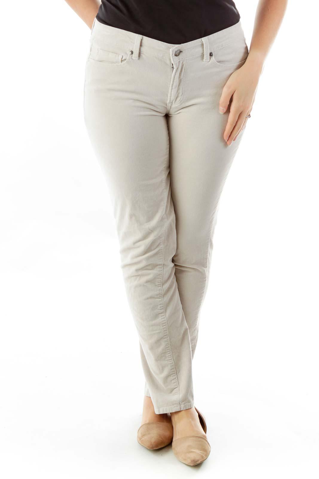 Biege Corduroy Pants