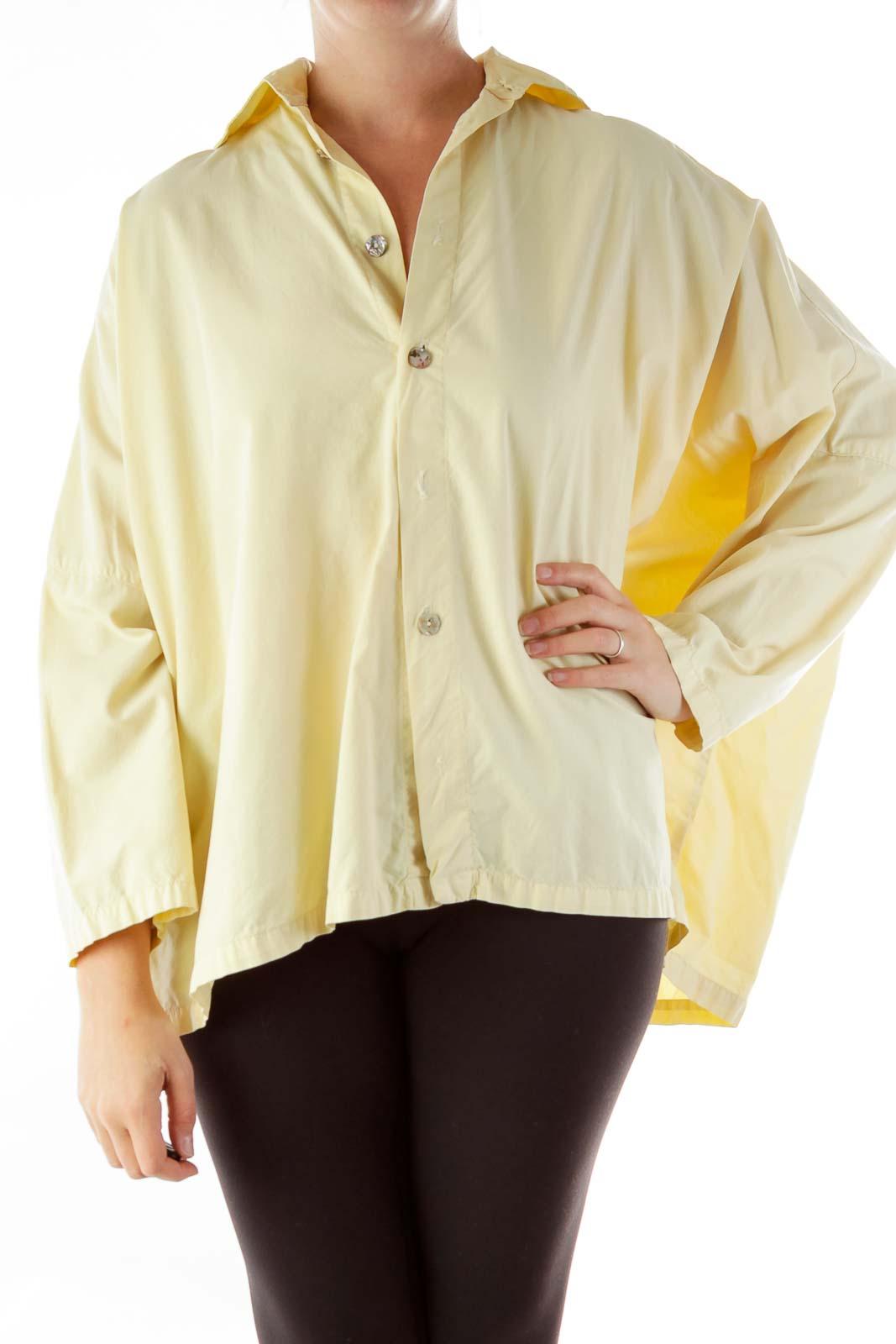 Yellow Oversized Button-Up Shirt