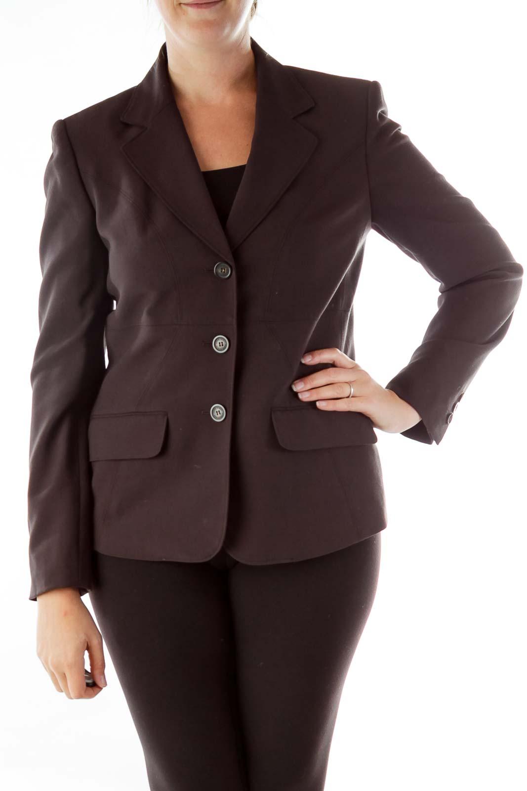 Brown Buttoned Blazer