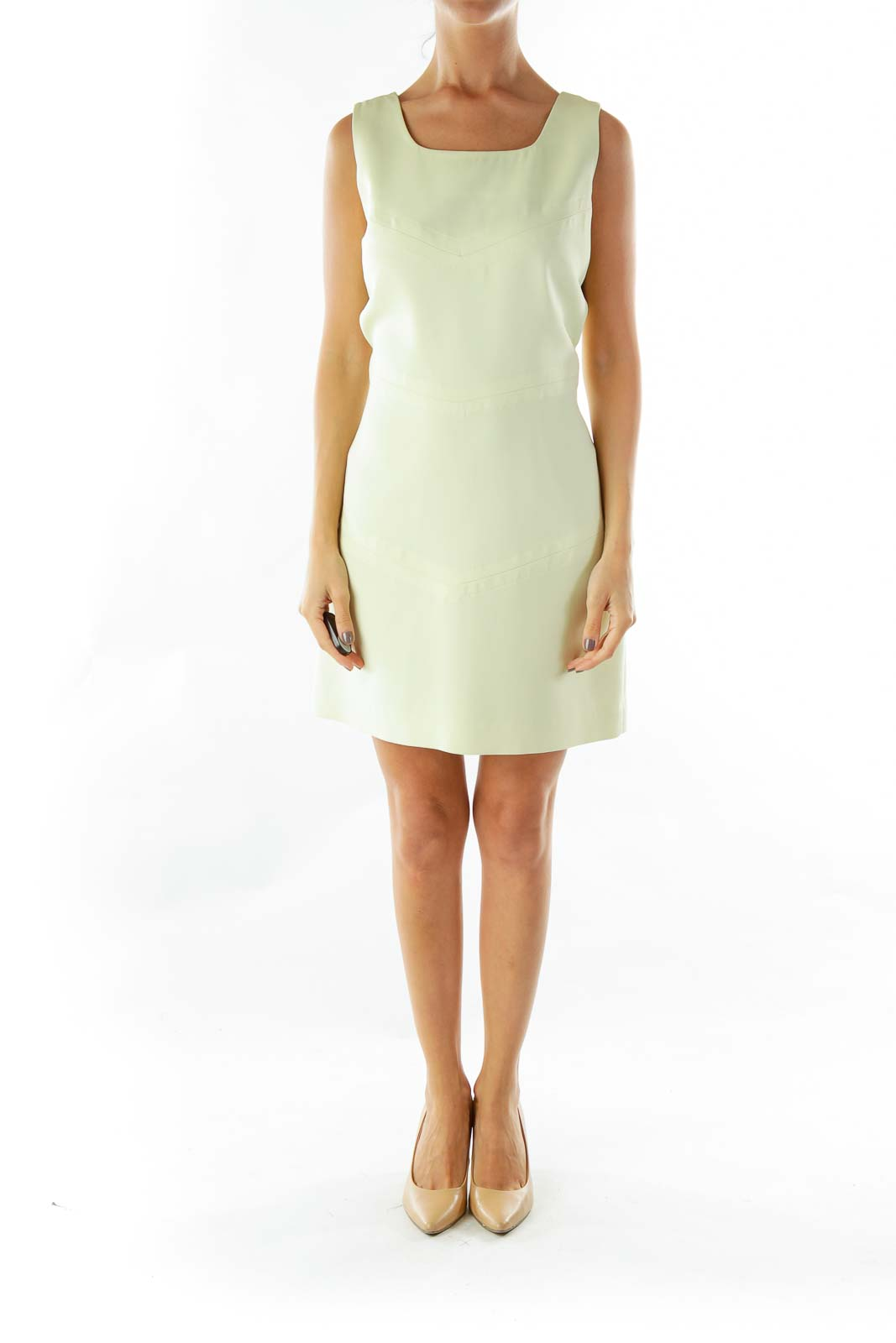 Lime Green Shift Work Dress