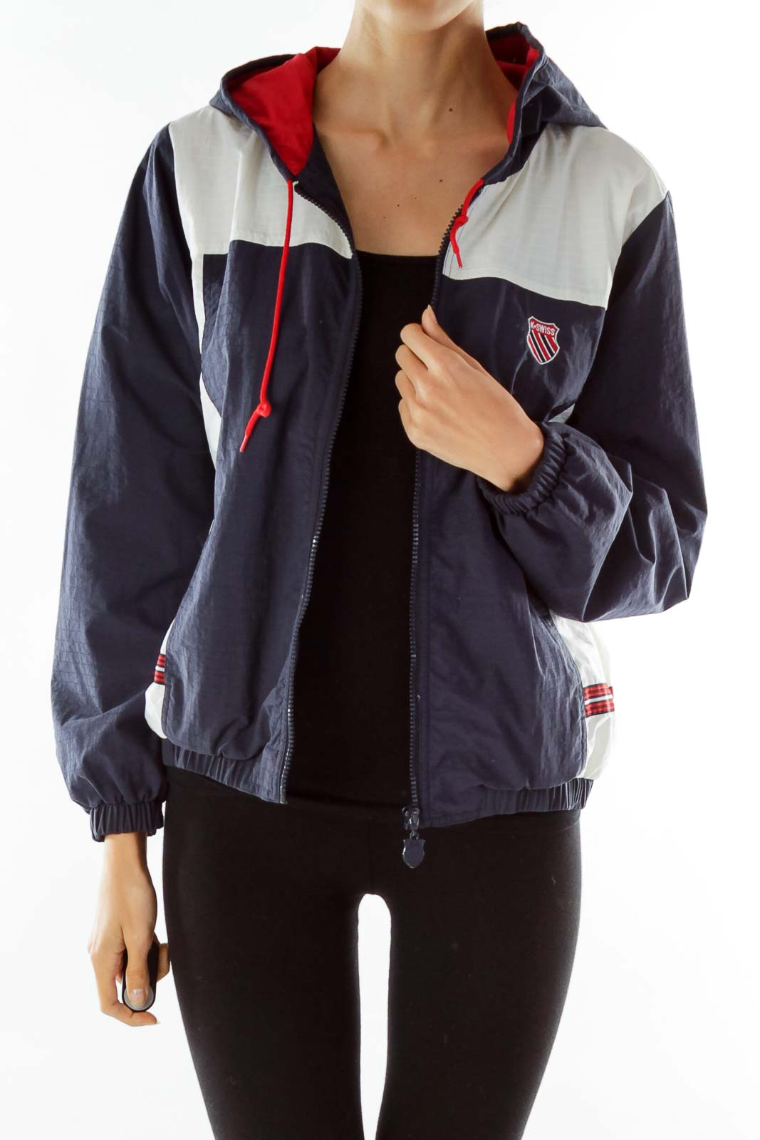 Navy White Red Outdoor Jacket