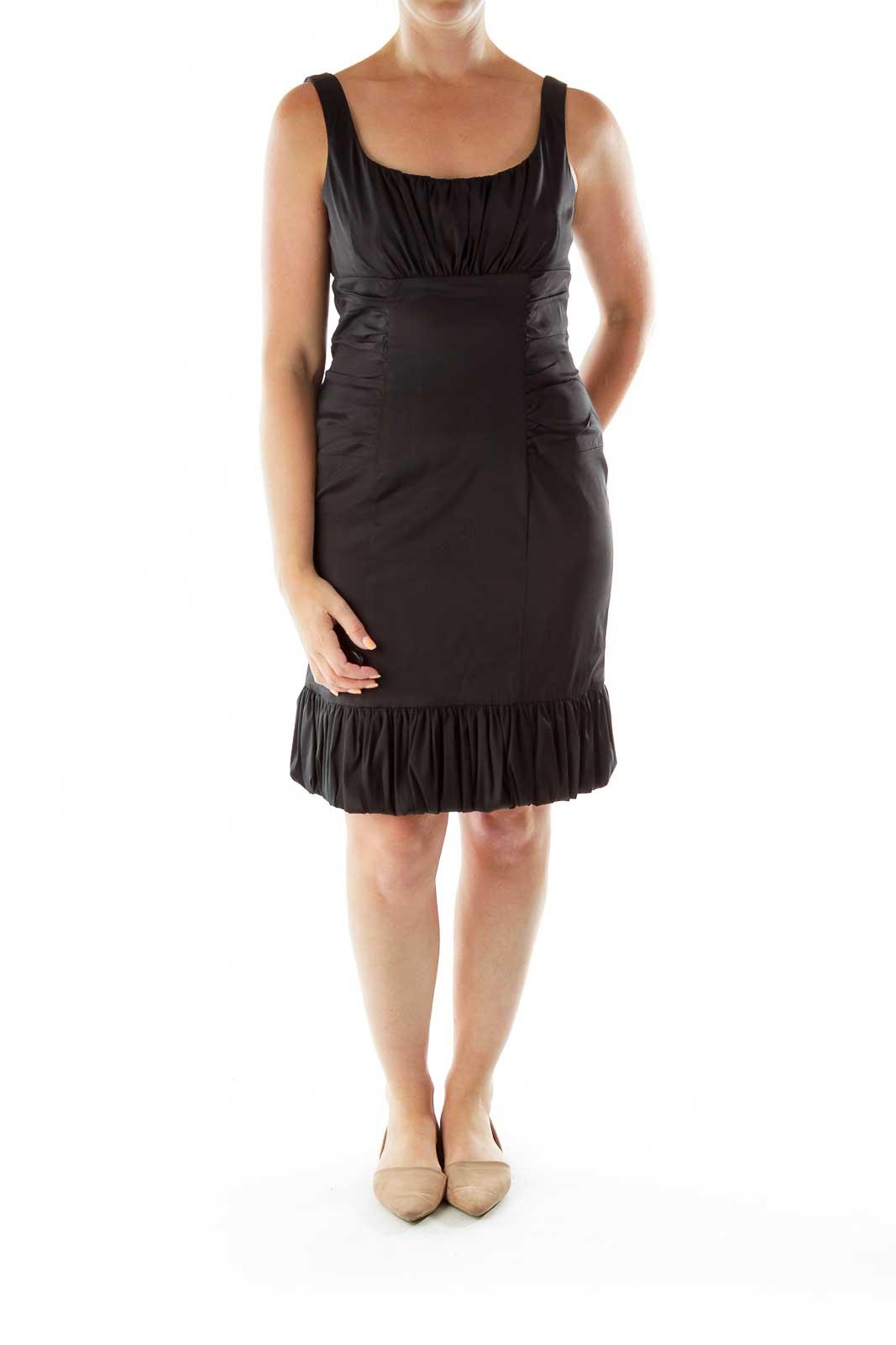 Black Sleeveless Puffy Dress