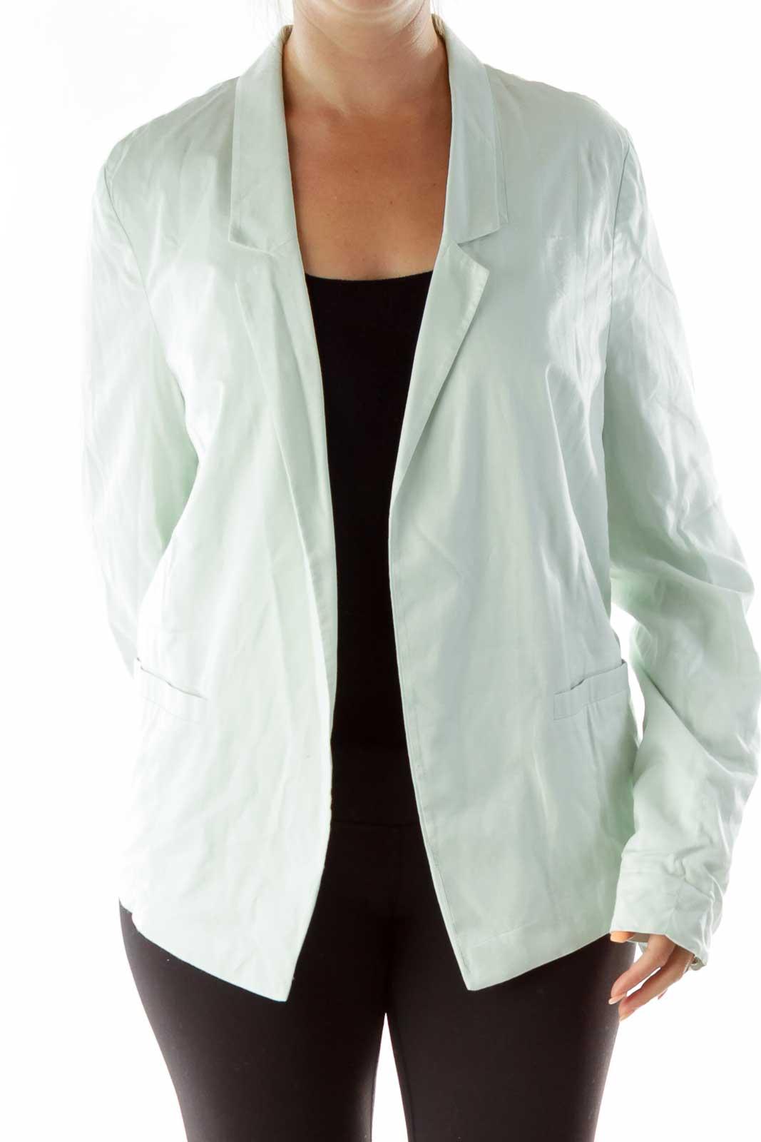 Mint Green Buttoned Blazer