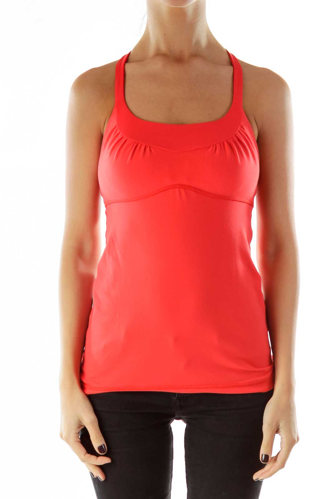 Pink Strapped Sports Top