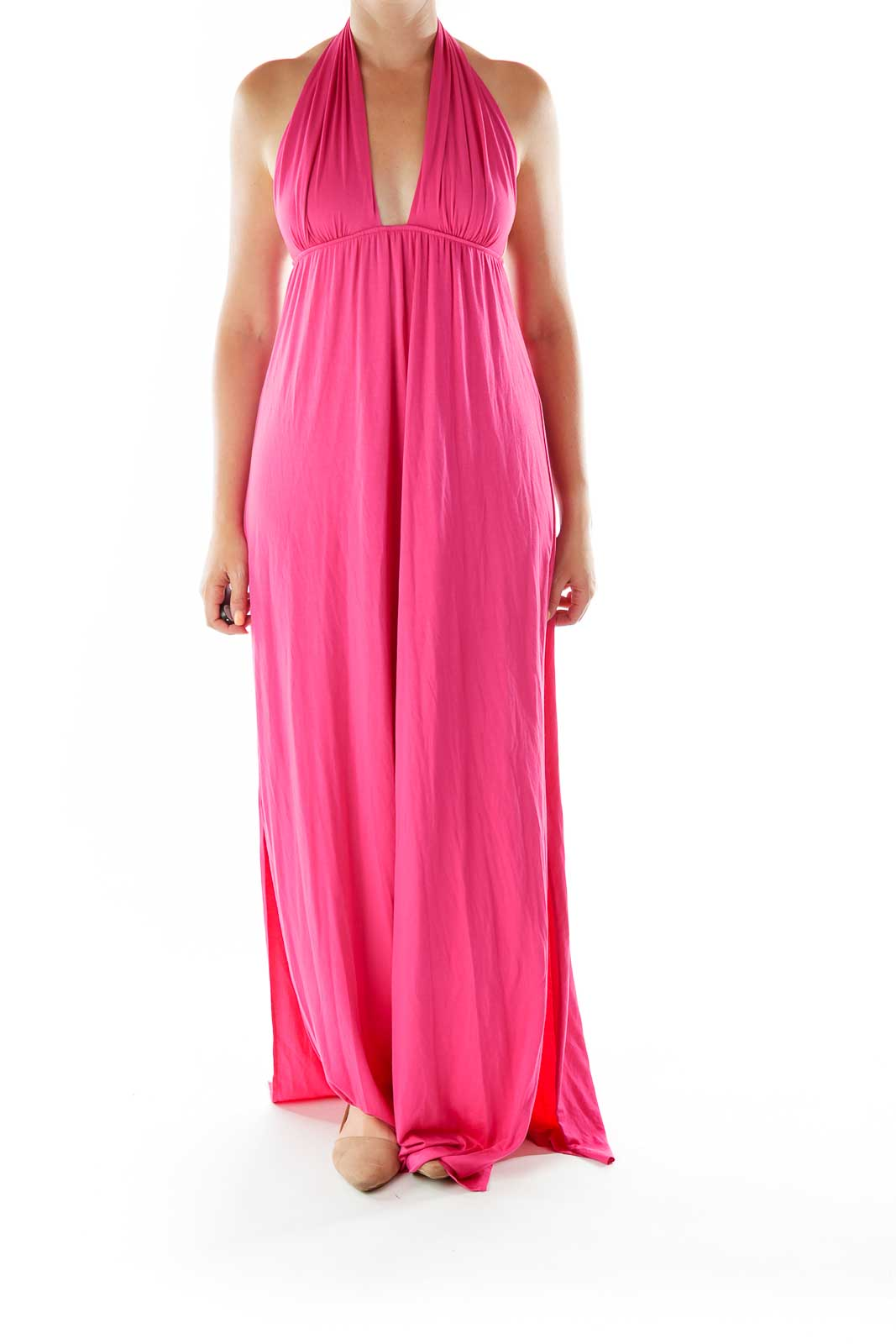 Hot Pink Strapless Day Dress
